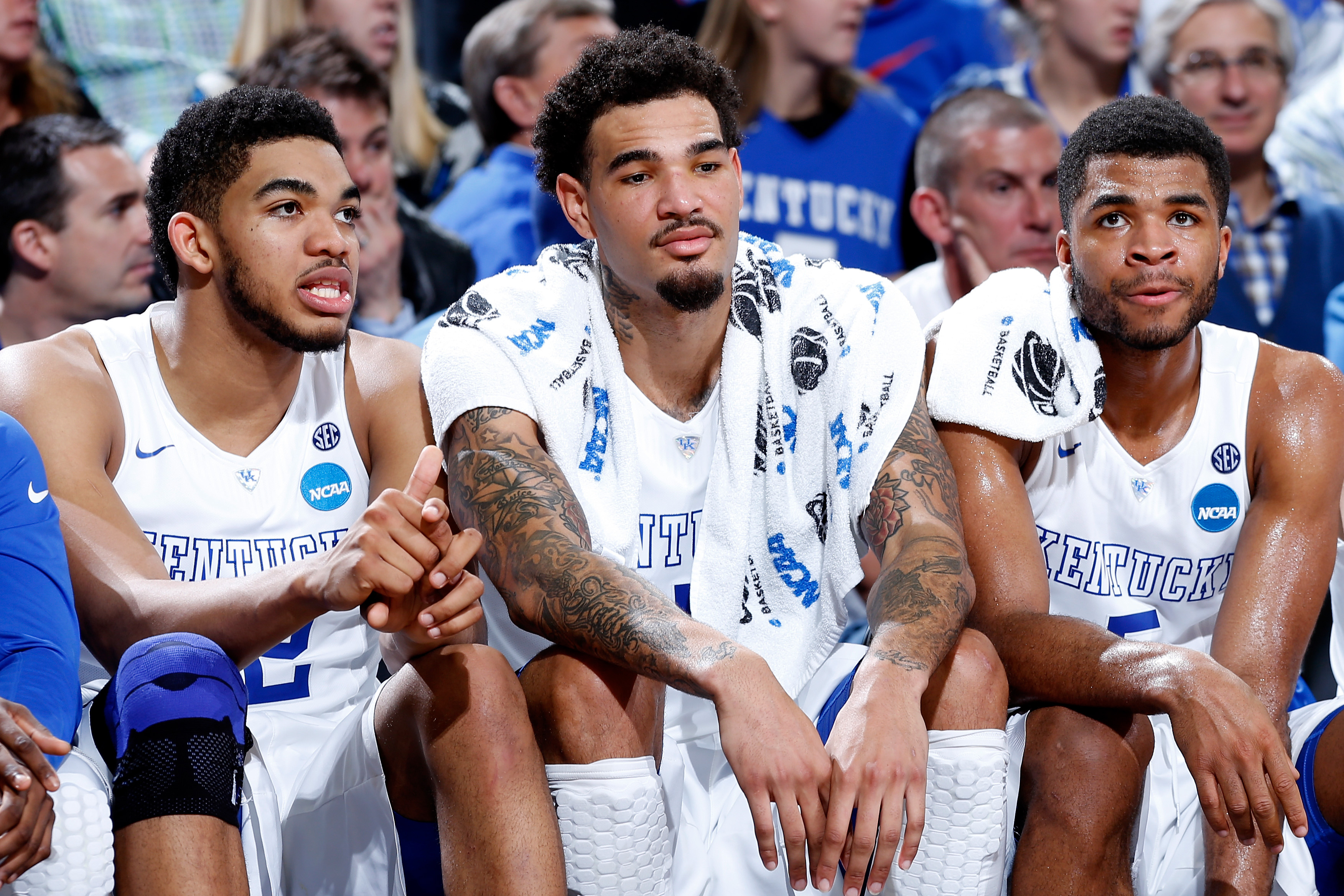Karl-Anthony Towns and Willie Trill Cauley-Stein are the top two former Wildcats off the board.