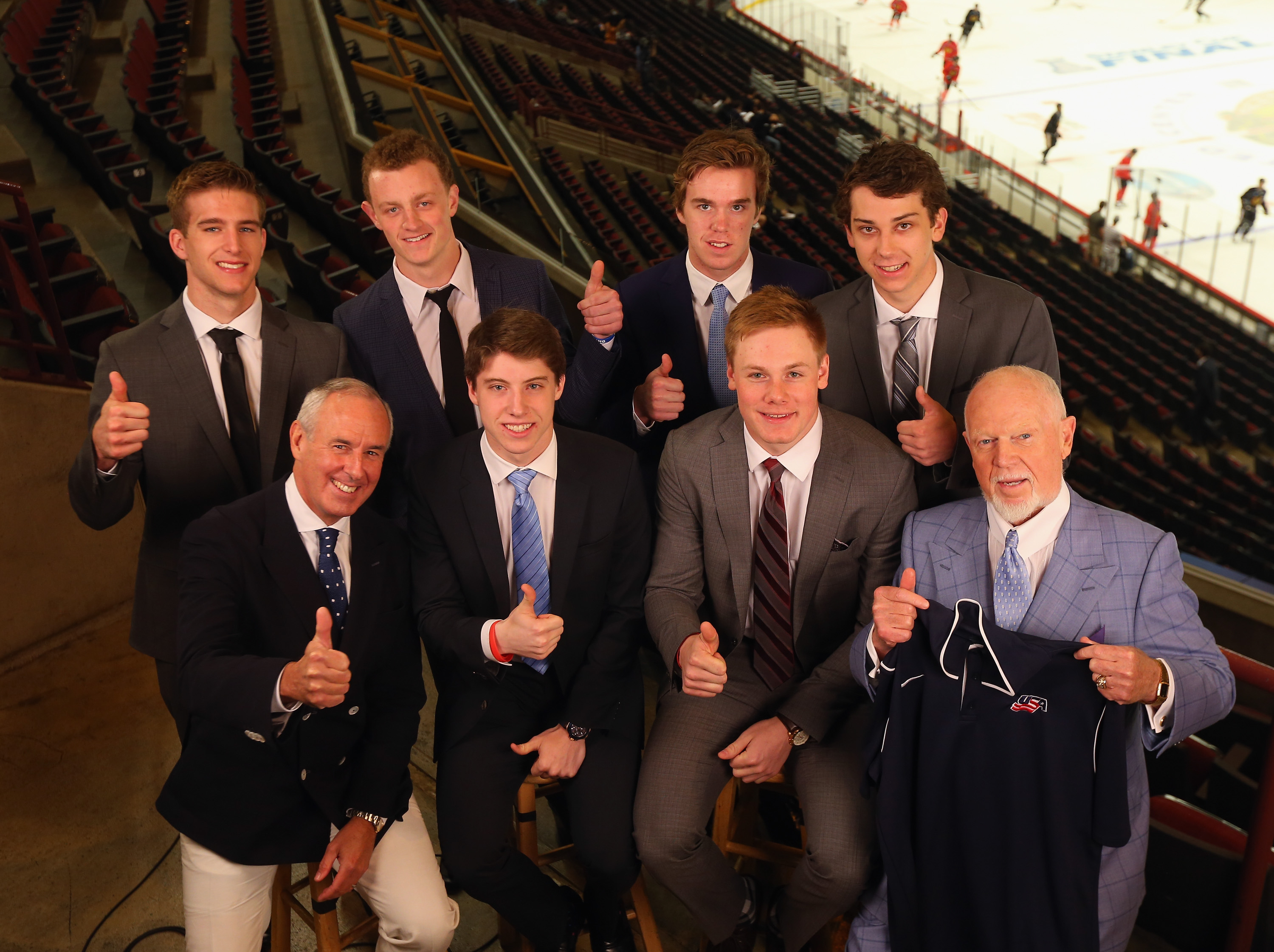 Will the Devils select anyone in this picture? According to mock drafts of the first round, no.  Barzal isn't in this photo.