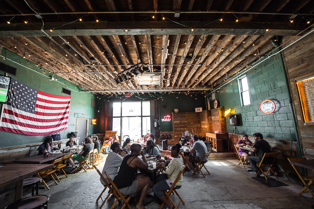[Hometown Bar-B-Que in Red Hook on a sunny afternoon]