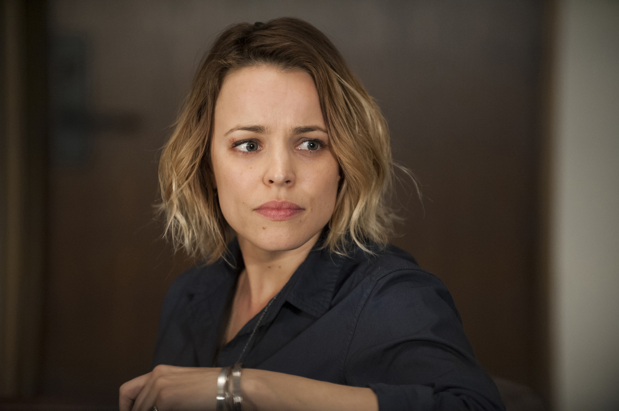 """As Antigone """"Ani"""" Bezzerides, Rachel McAdams spends most of True Detective's season two premiere casting about for something to do."""