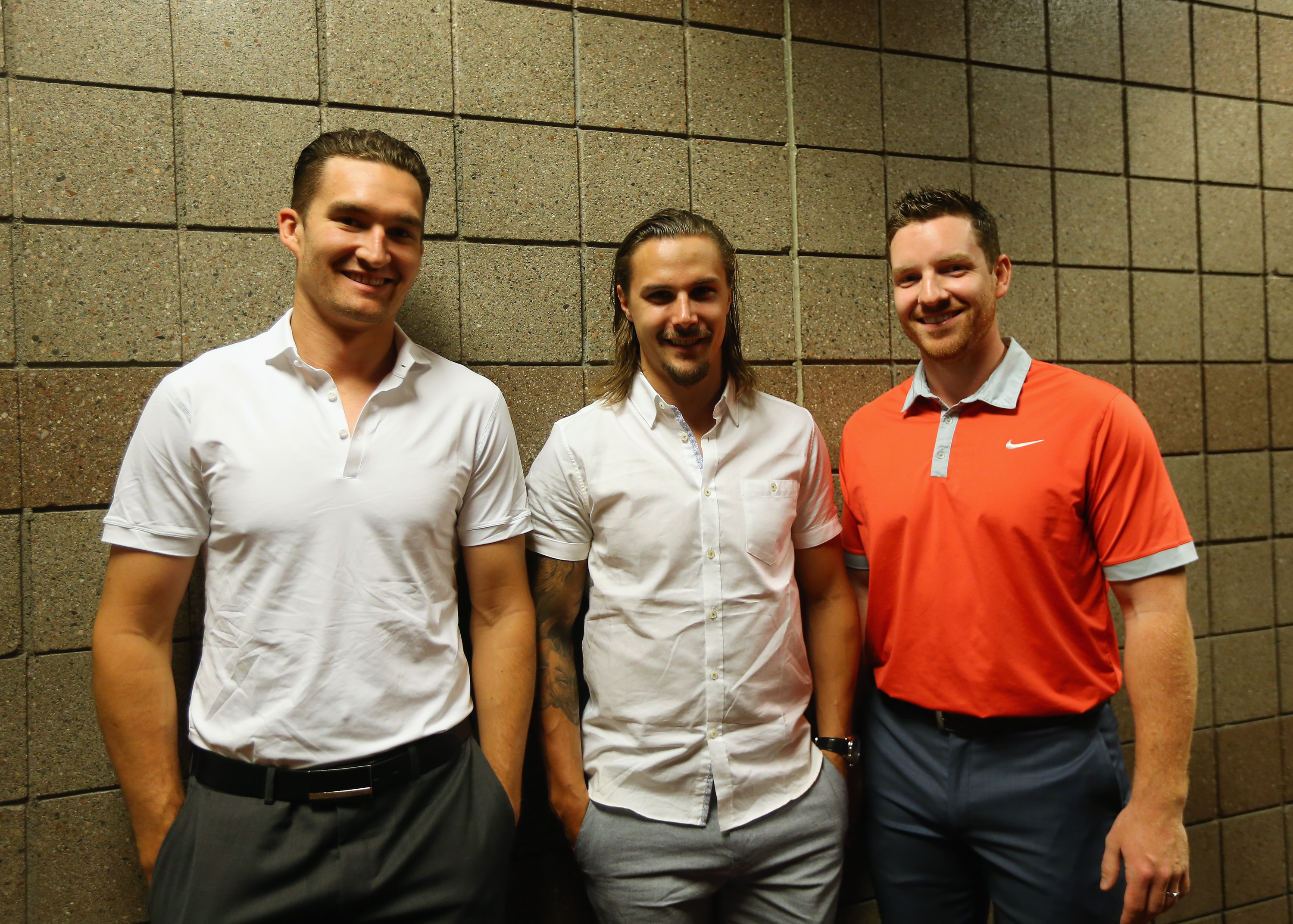 Wonder if these three have been practising their 3-on-3 tactics?
