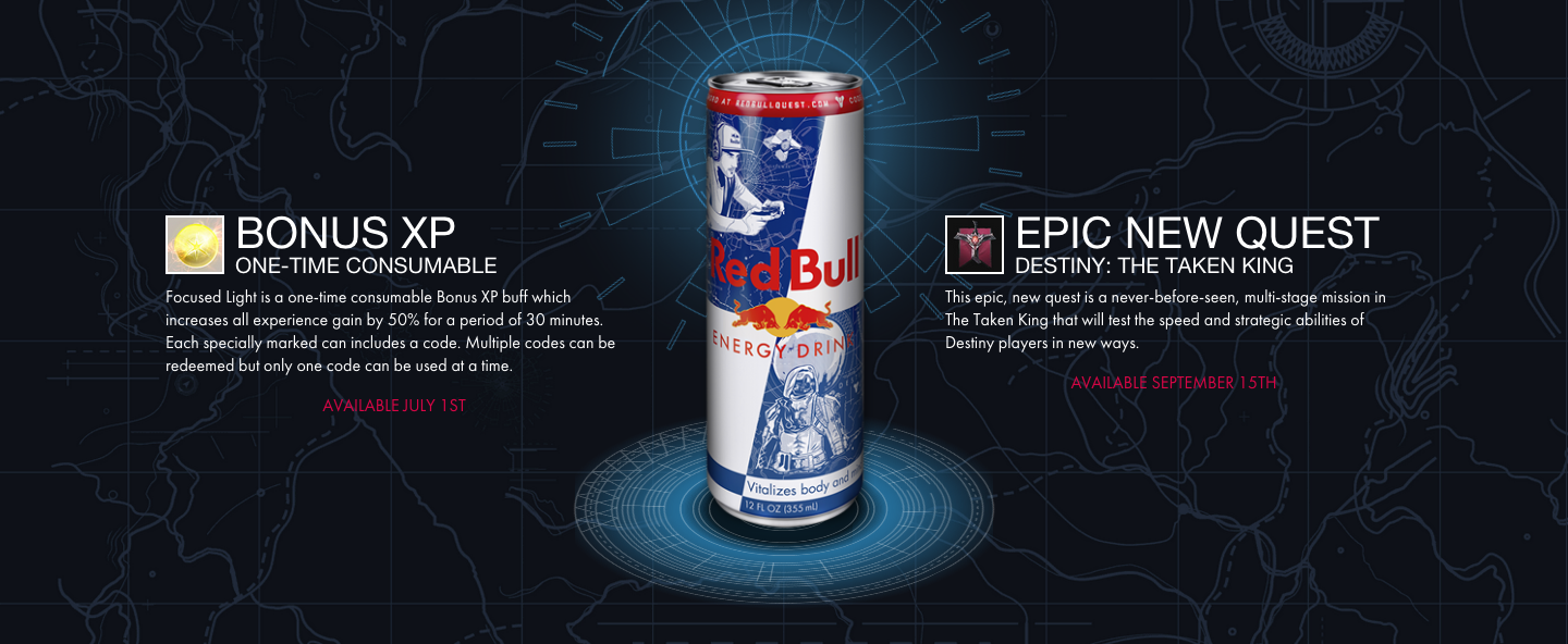 Destiny gets new quest, you just need to pop open a Red Bull (or wait till next year) to get it