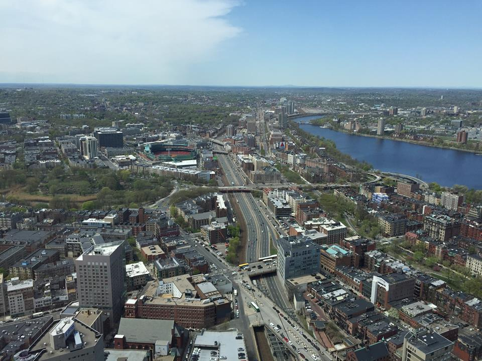 The view from Top of the Hub in Boston's Back Bay