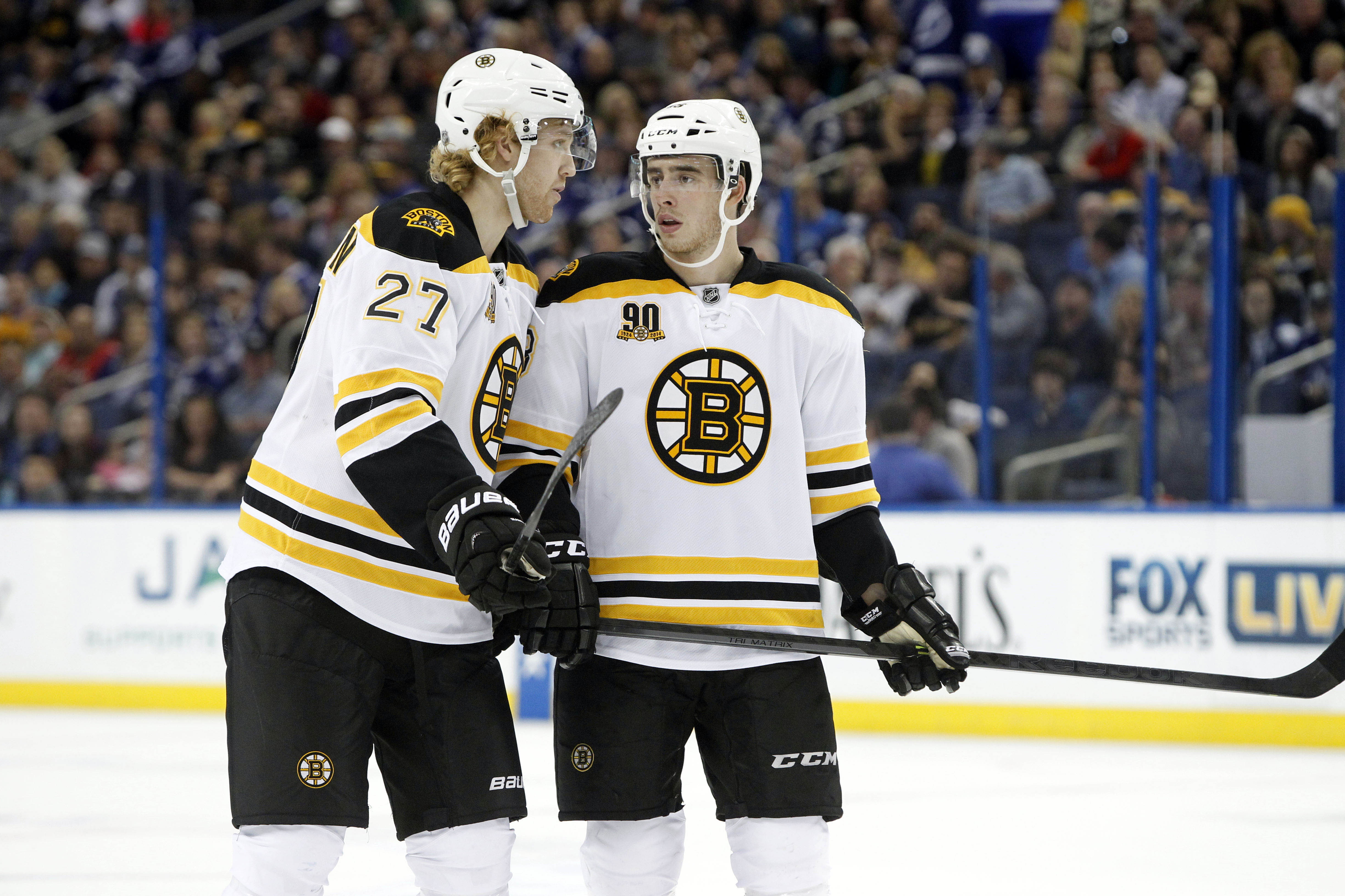 Wait, Dougie, what do you mean neither one of us will be Bruins next season?