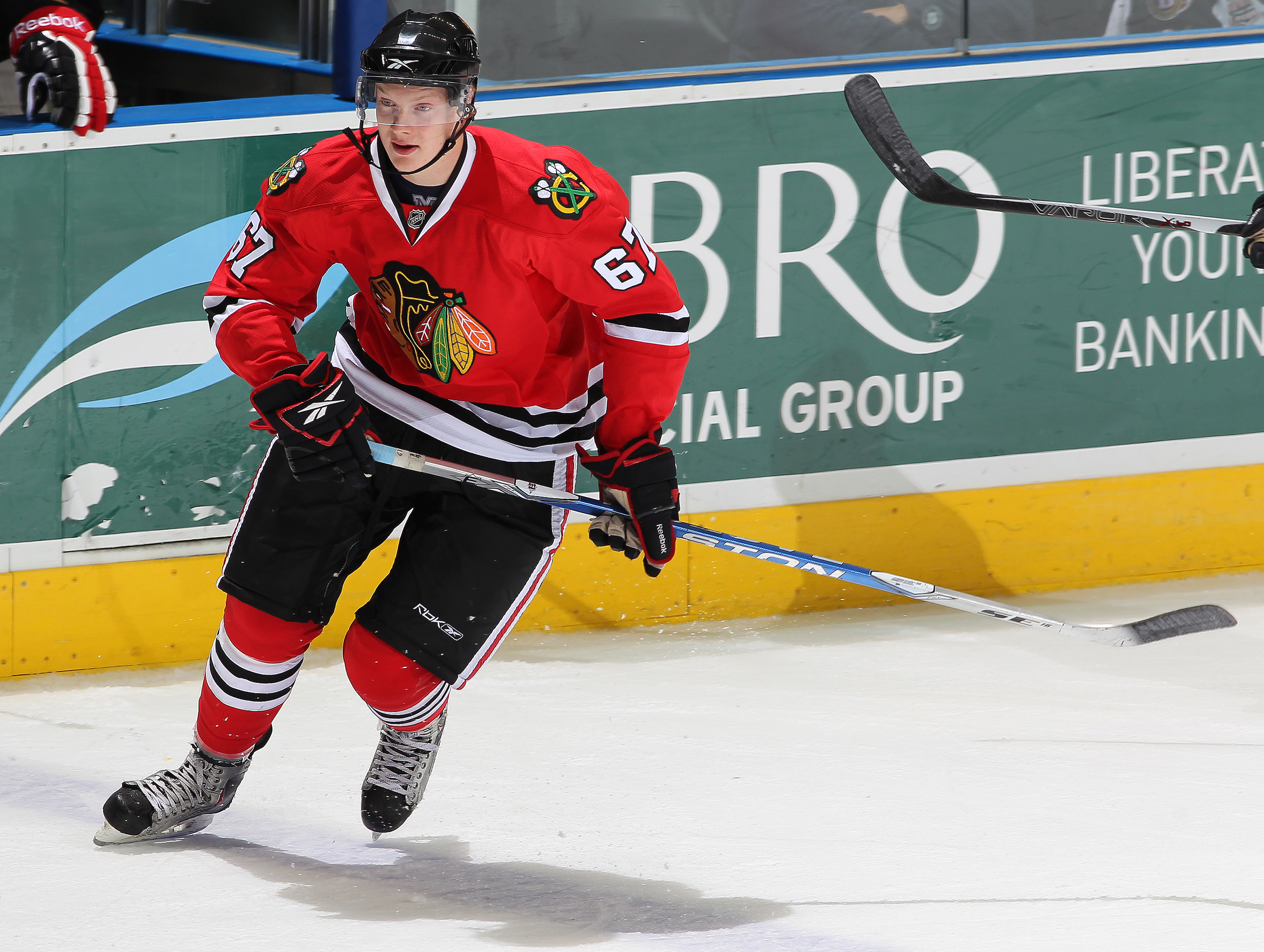 Rob Flick in a rookie tournament game with Chicago.