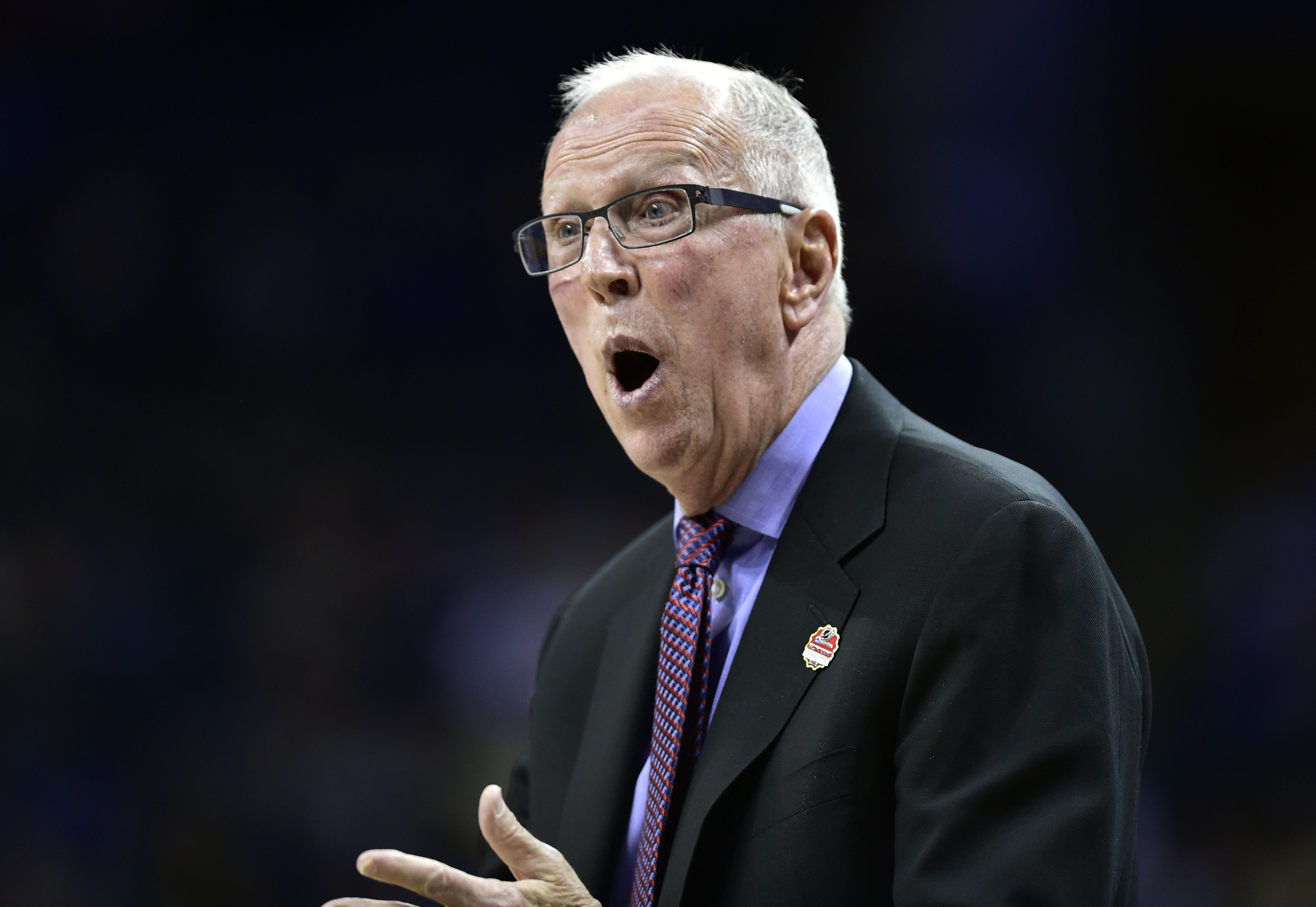 Steve Fisher during the NCAA tournament.