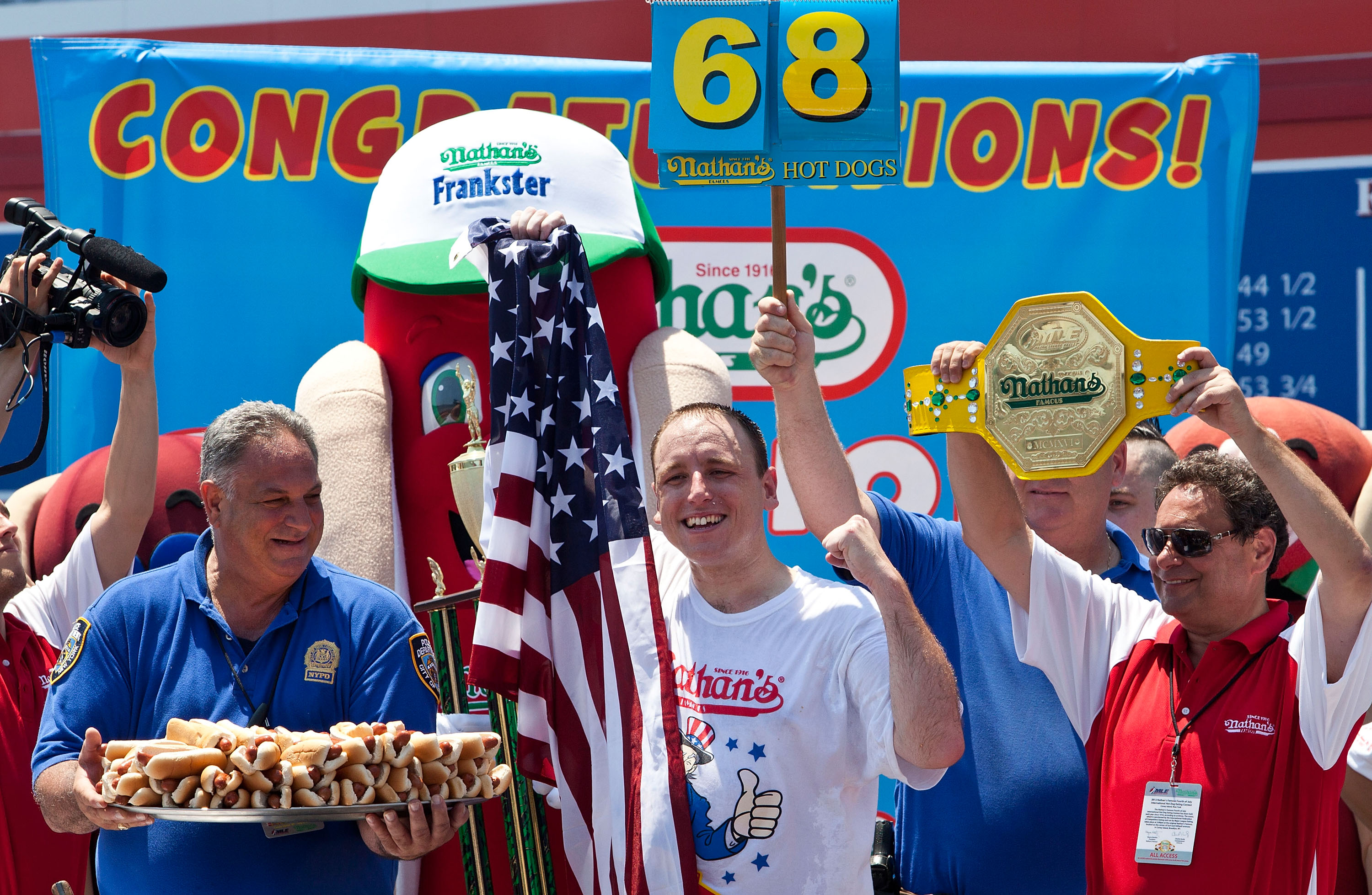 Joey Chestnut is America's greatest, most American athlete
