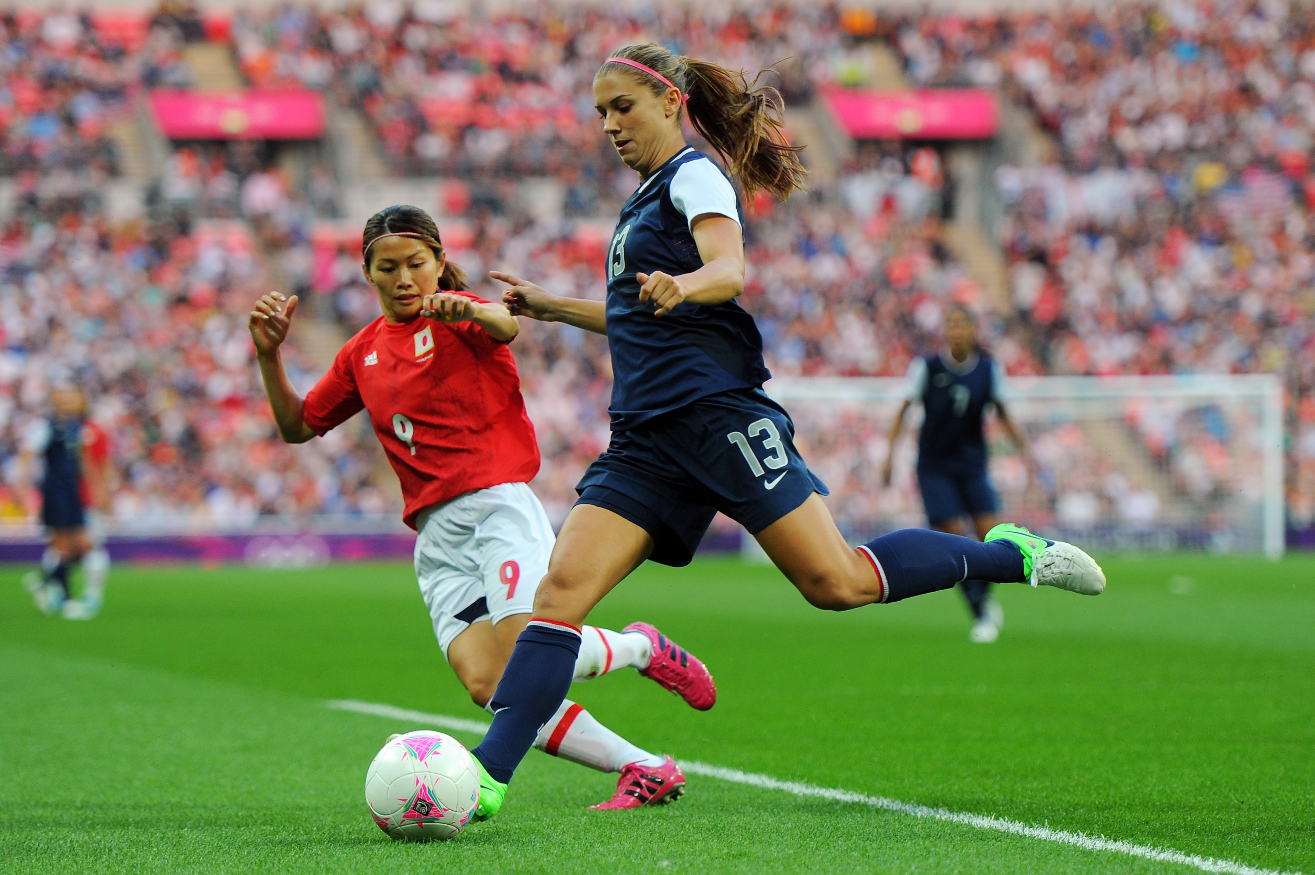 Alex Morgan helped lead the United States to the Gold Medal over Japan at the London 2012 Olympics.