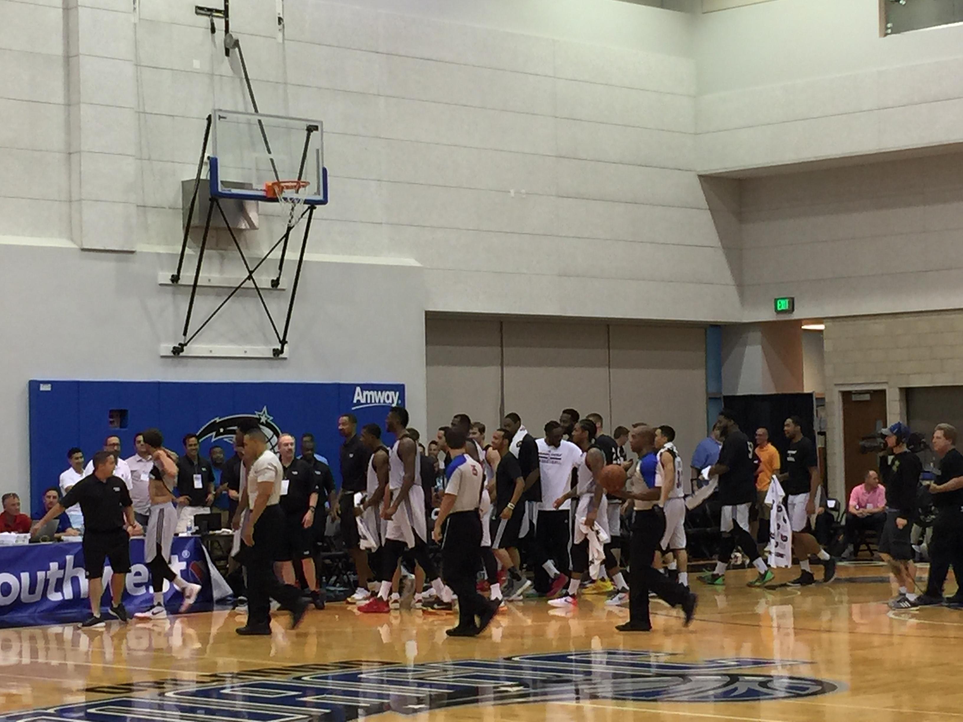 Heat celebrate victory after Tyler Johnson's basket