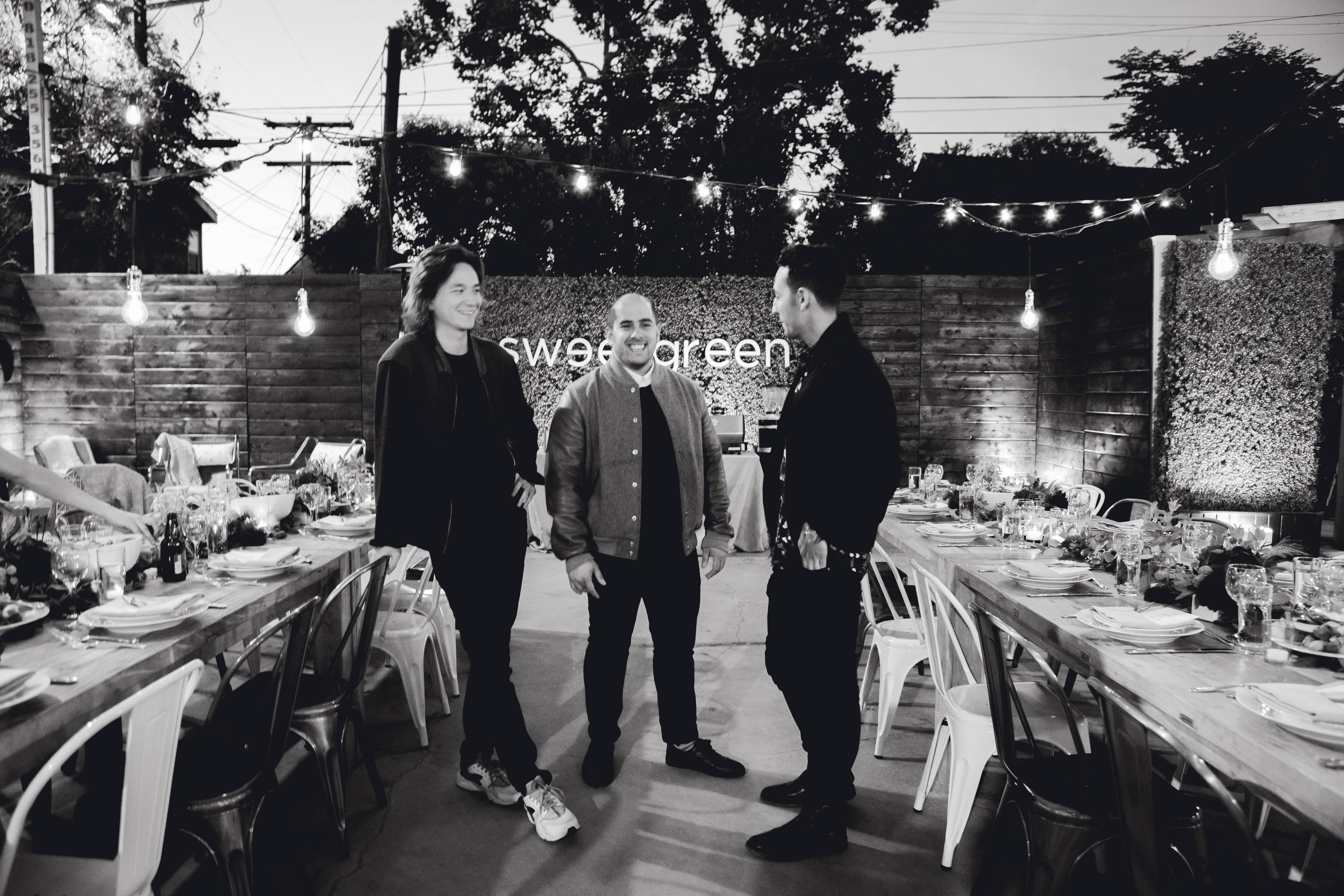 Sweetgreen founders, from left: Nathaniel Ru, Nicolas Jammet, and Jonathan Neman