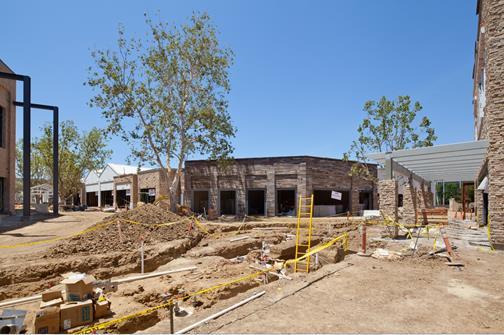 Construction at Westfield Topanga