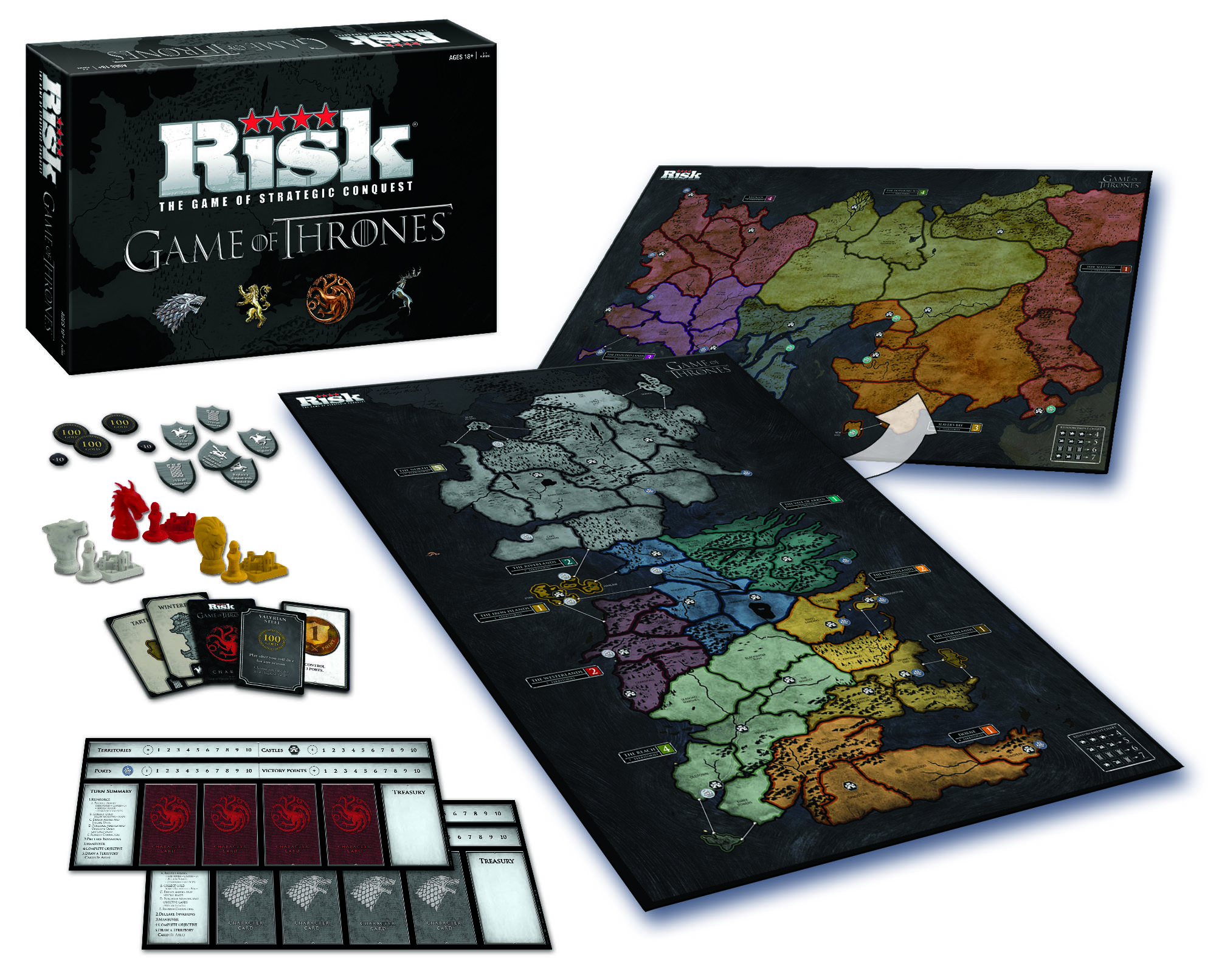 Take a look at the Game of Thrones Risk game