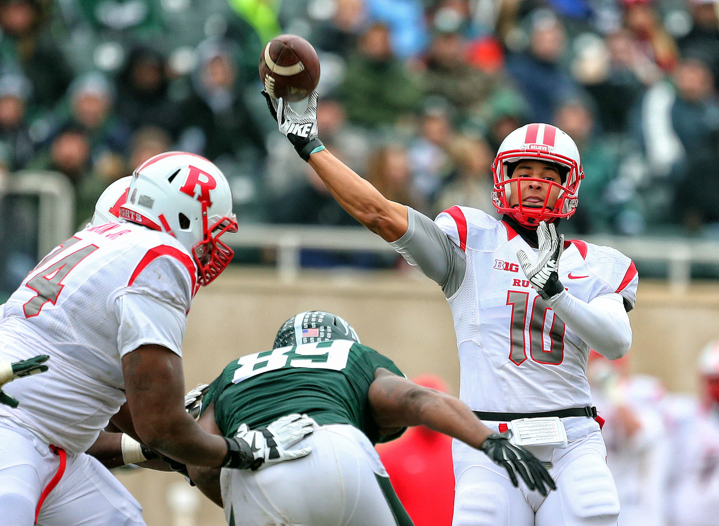Rutgers has to replace four-year starter Gary Nova in 2015.