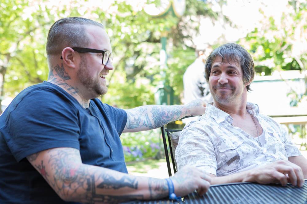 Jamie Bissonnette (left) and Ken Oringer