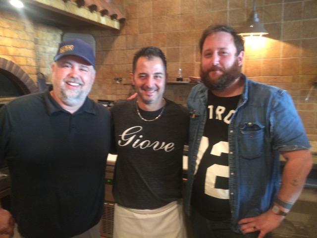 From left: Tommy Habetz, Giove pizza player, Brandon Smyth