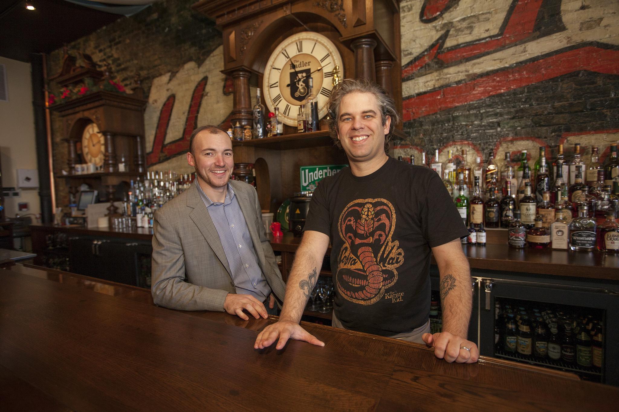 The Radler's Adam Hebert and Nate Sears