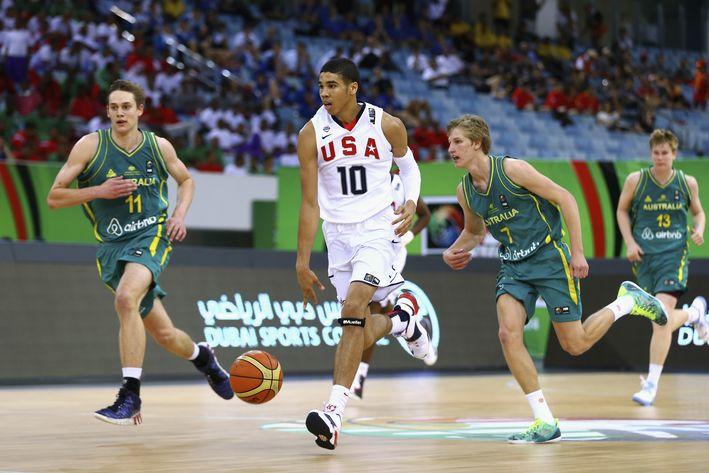 No. 1 High School Recruit Jayson Tatum playing in the U-19 FIBA Championships