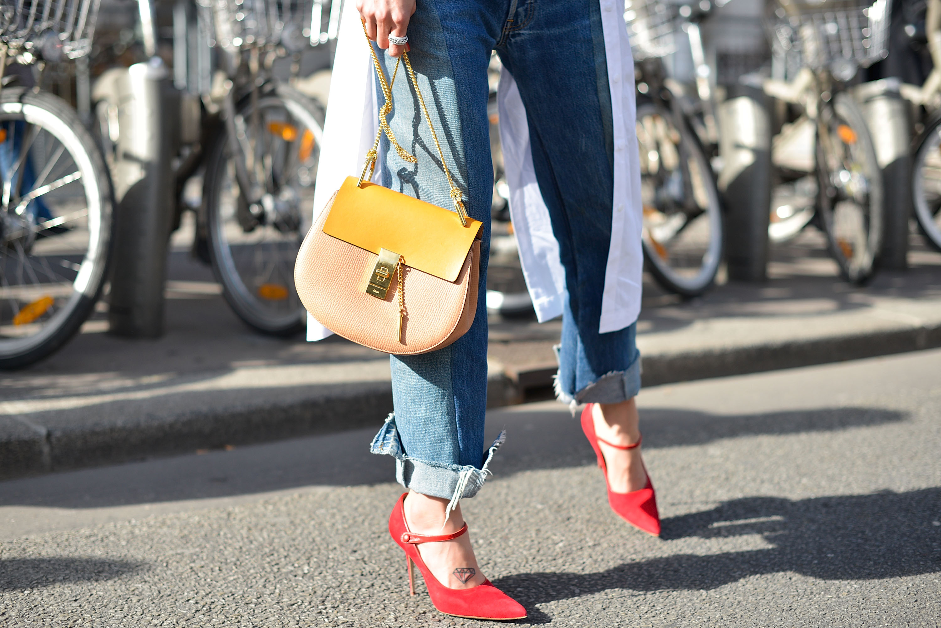 Manolo Blahniks spotted at Paris Fashion Week in March