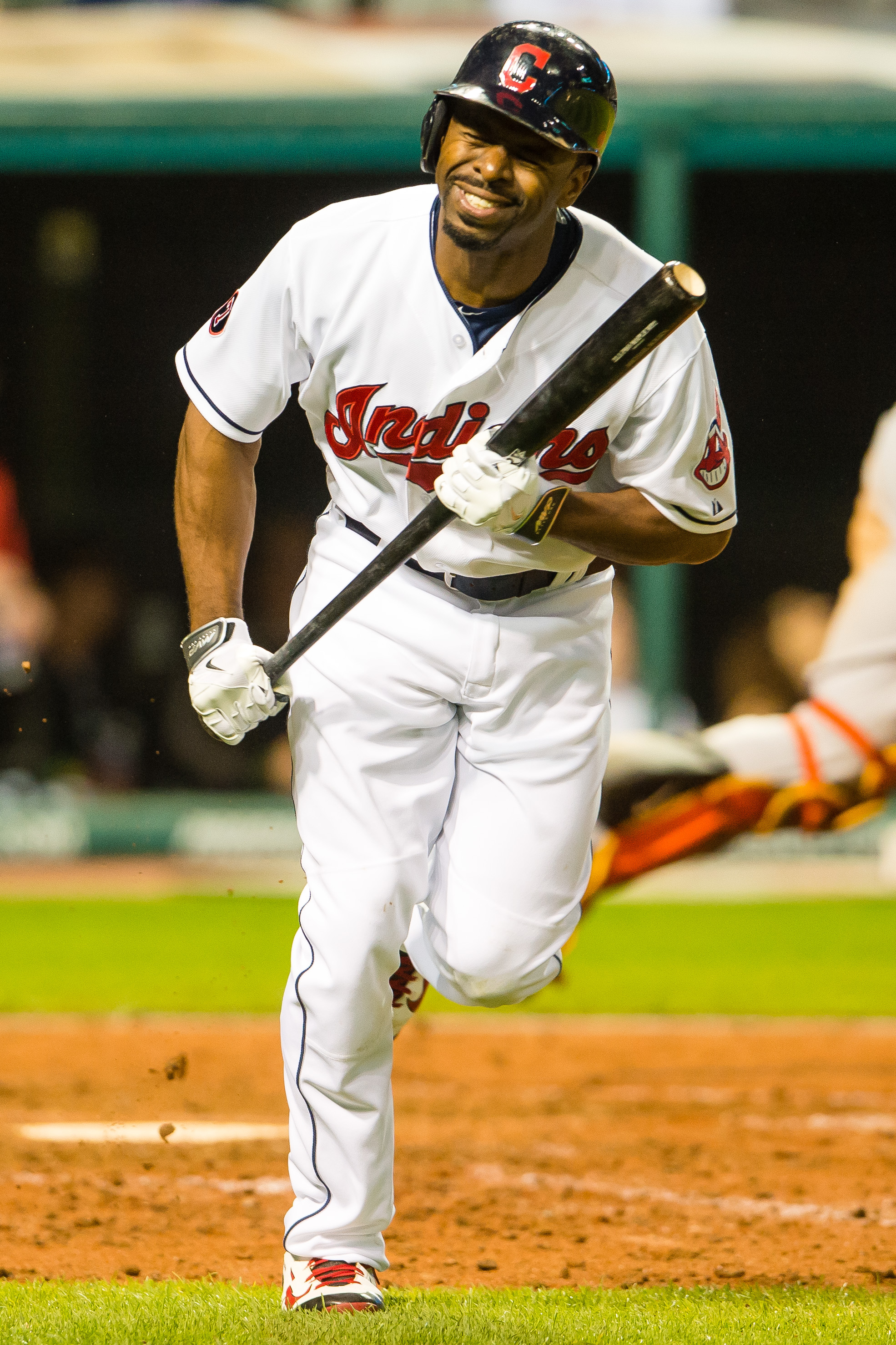 Michael Bourn is pained by the tough decision about which of his teammates should be Player of the Week. * PHOTO