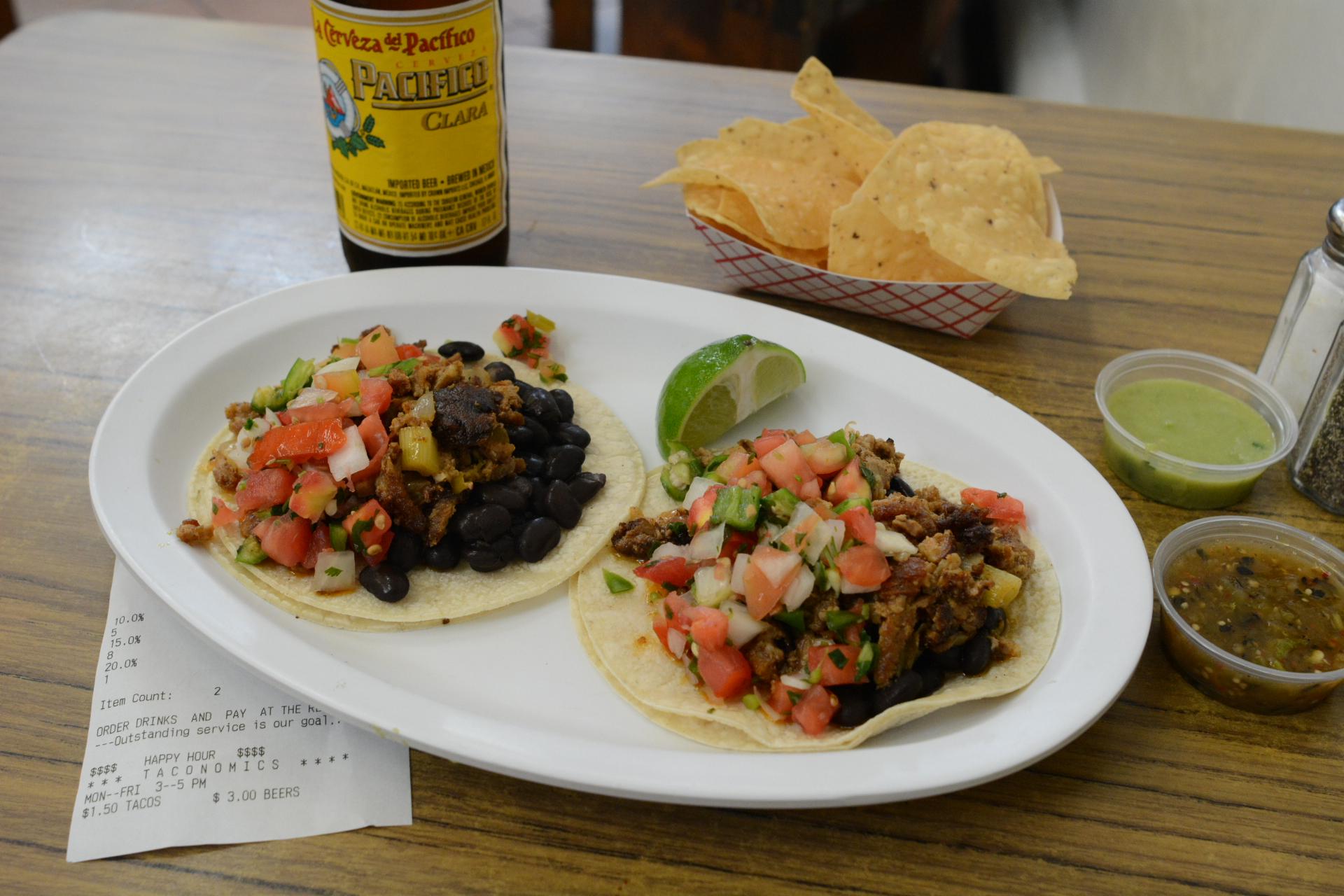 Al pastor tacos from Pancho Villa.