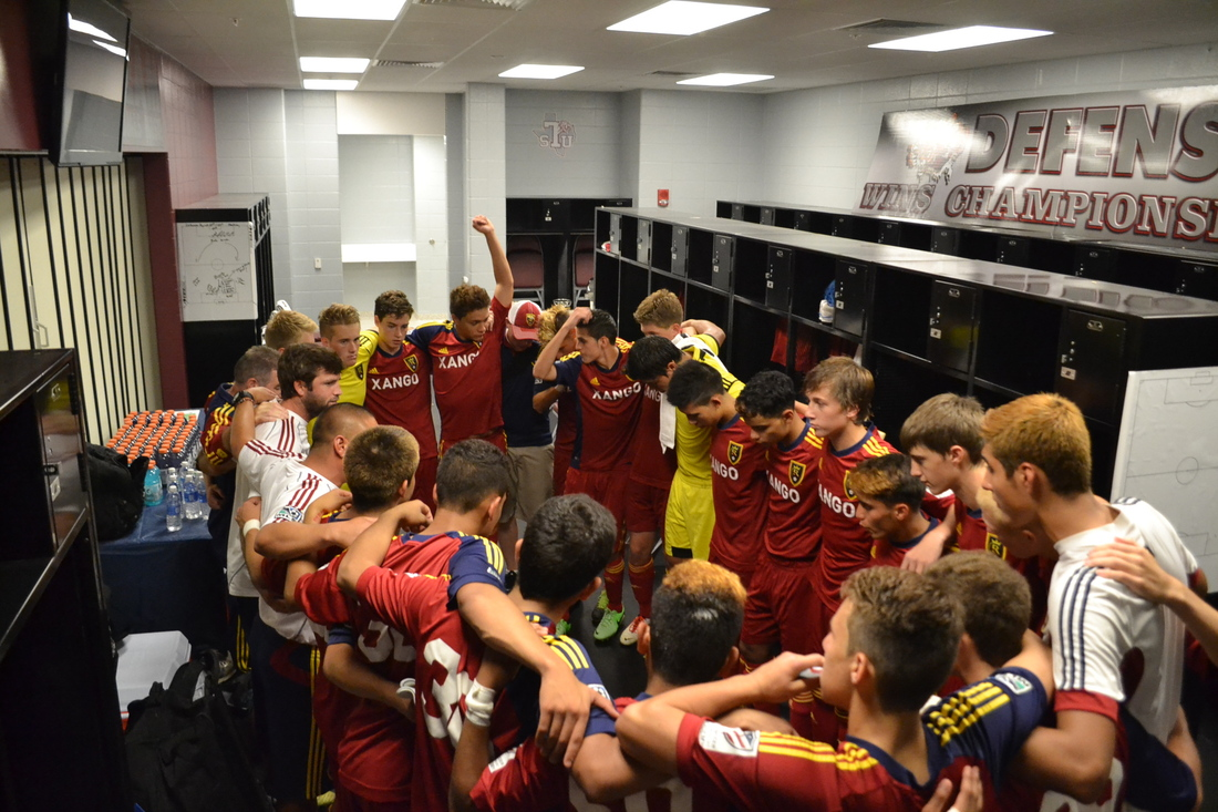 Real Salt Lake's U-16s in 2013 before their championship-winning match.