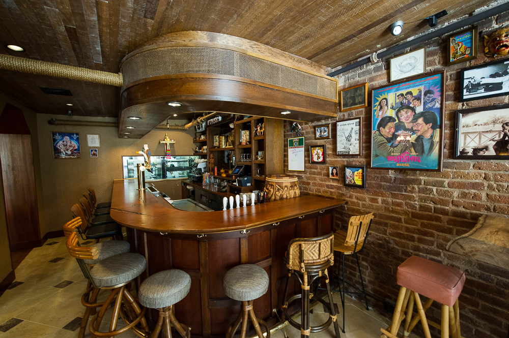 [The bar at Uncle Boons. This might be a good place to hit up after work today.]