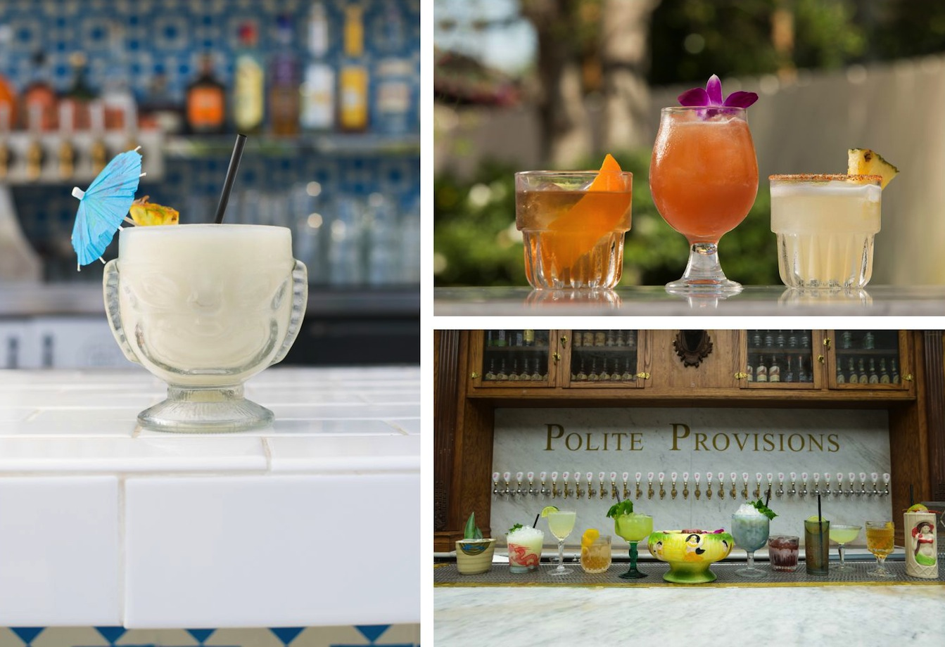 A sampling of cocktails from Consortium Holdings' hot spots.
