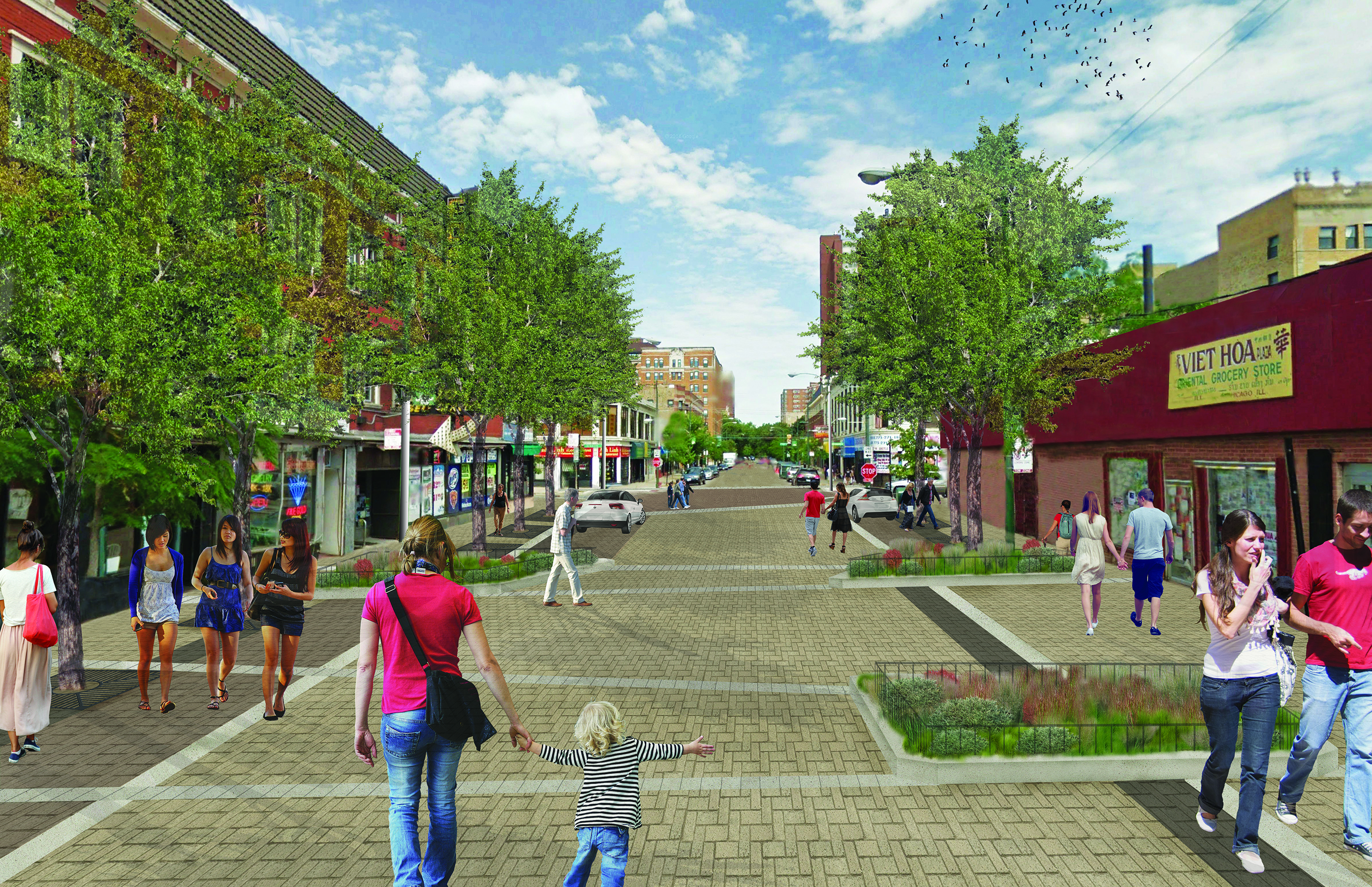A rendering of Argyle Street after construction.