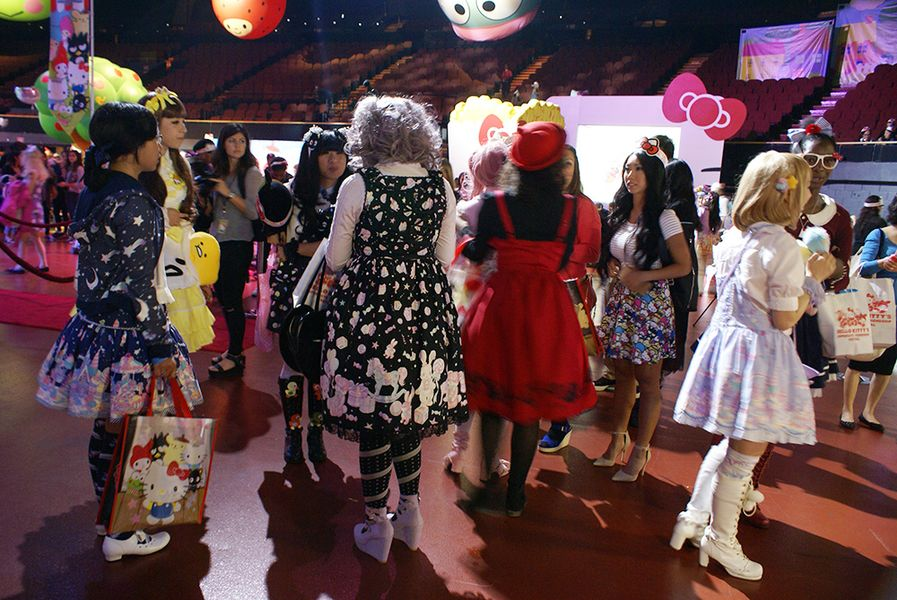 """A scene from last month's <a href=""""http://la.racked.com/2015/6/12/8767785/hello-kitty-friendship-festival-photos"""">Hello Kitty Supercute Friendship Festival</a>."""