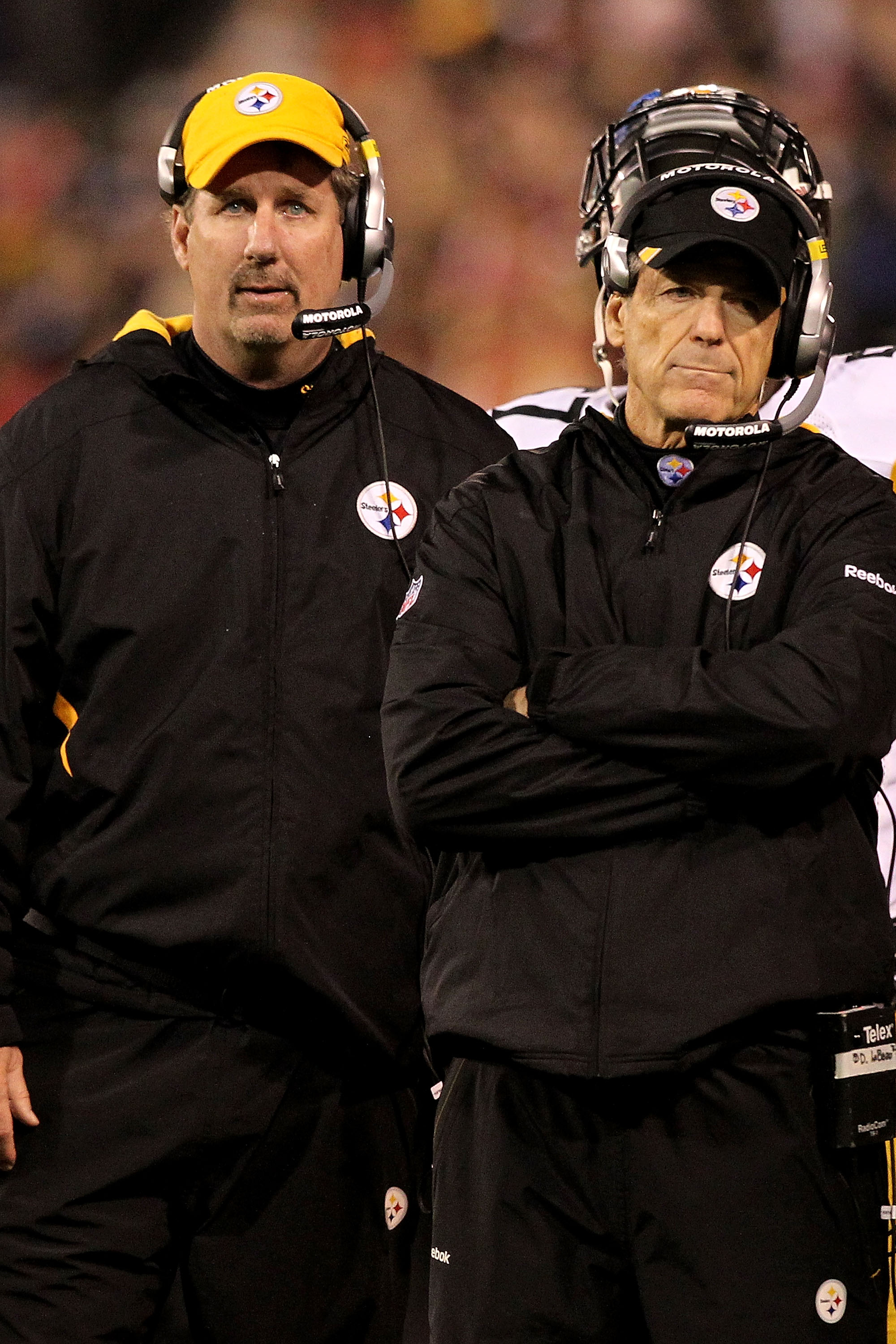 New Steelers Defensive Coordinator Keith Butler (left) replaces the legendary Dick LeBeau (right), who was let go after the 2014 season