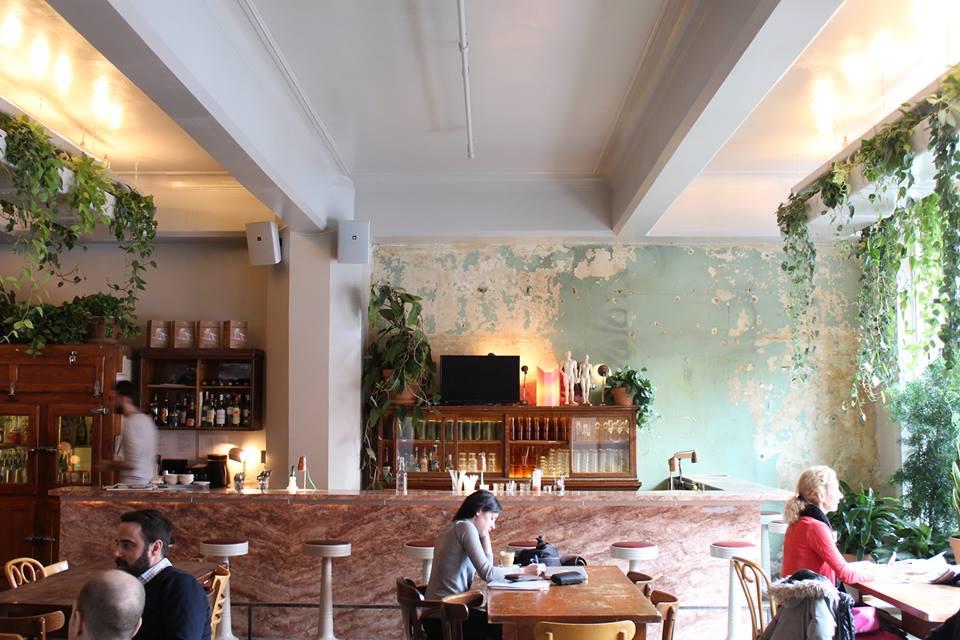 Inside Café Parvis, Downtown Montreal