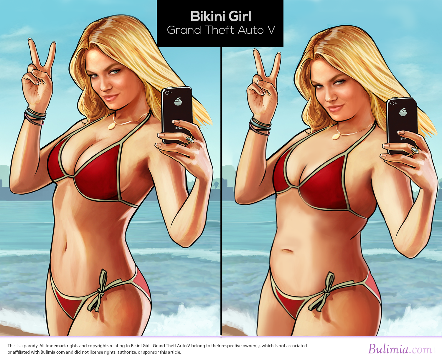 How female game characters would look if they were designed more like average women