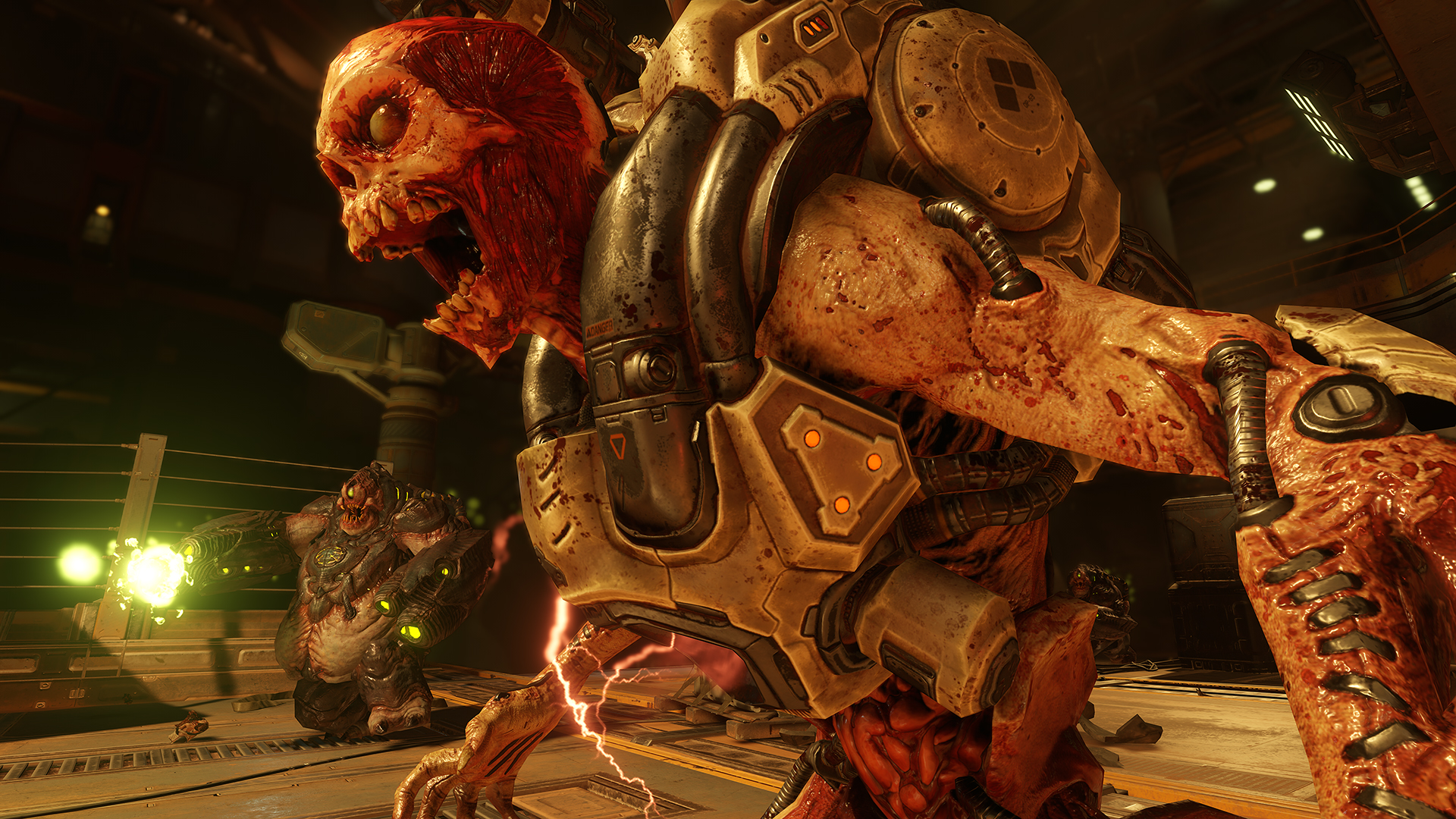 Doom's multiplayer mixes modern and retro, but it's still the fastest game in town