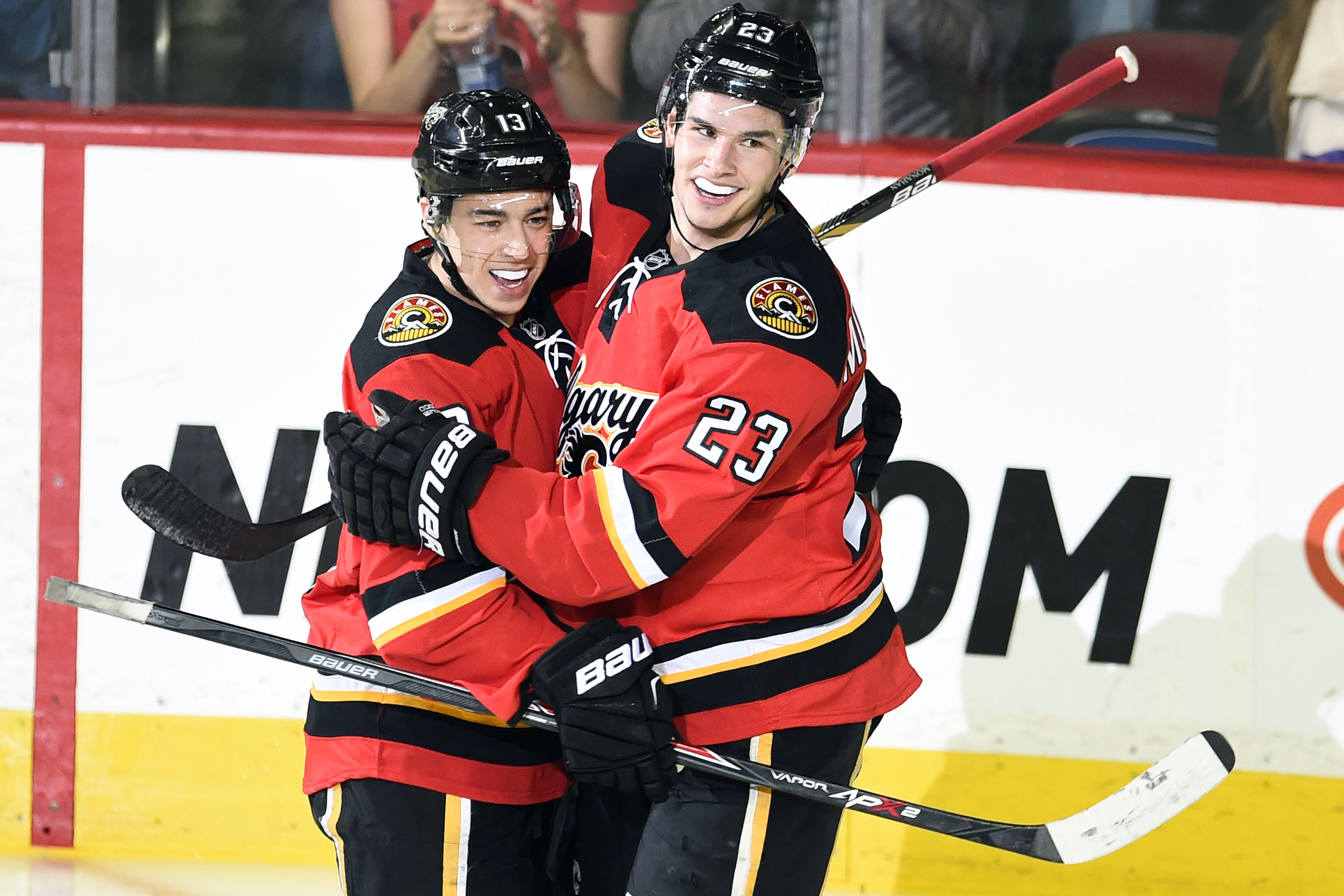 What a lovely photo of two lovely young men who are both under 25 and good at hockey.