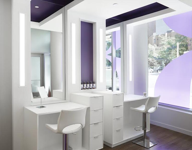A rendering of the Browlab stations in the Upper West Side salon
