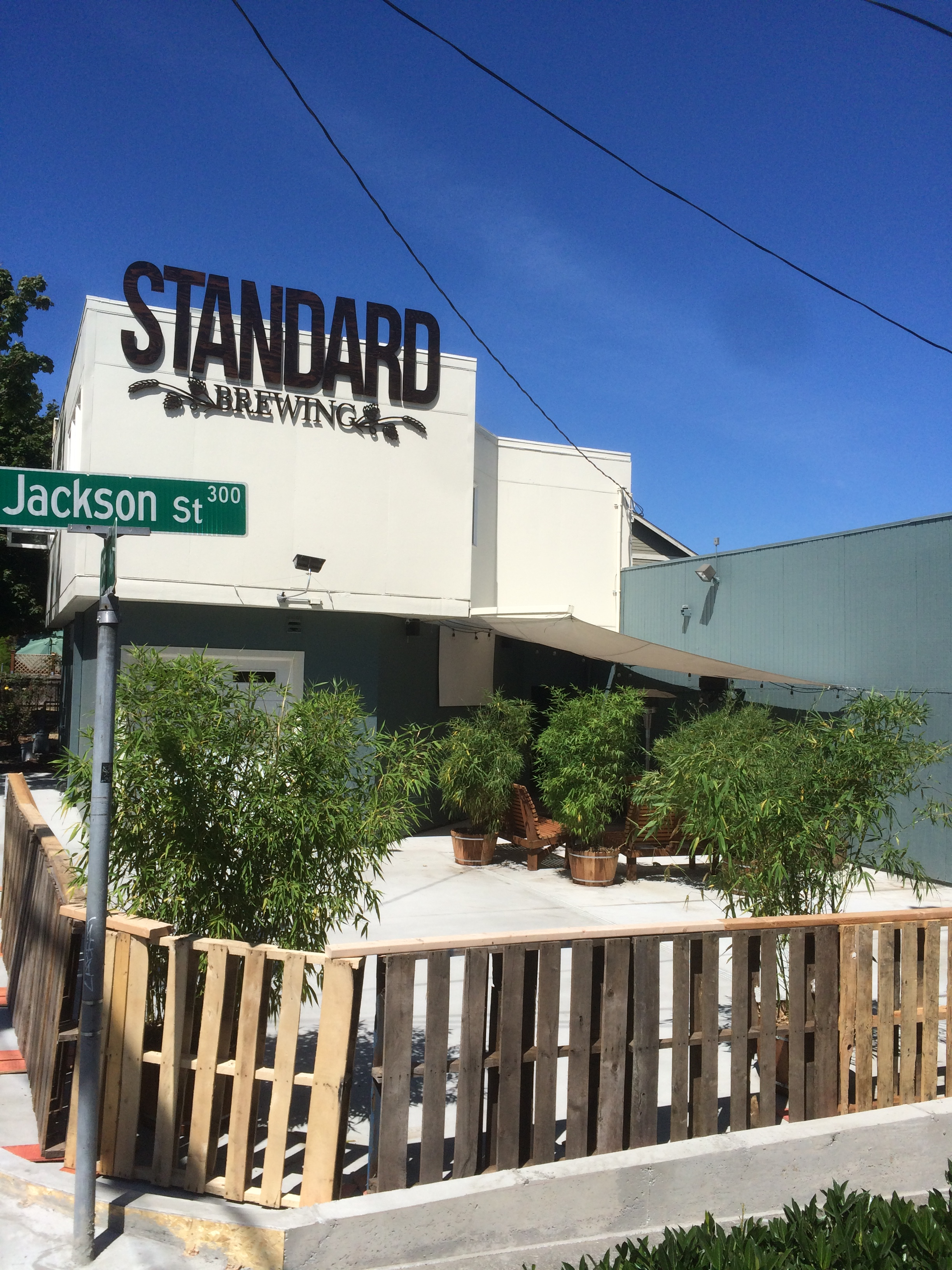 Standard Brewing's new patio