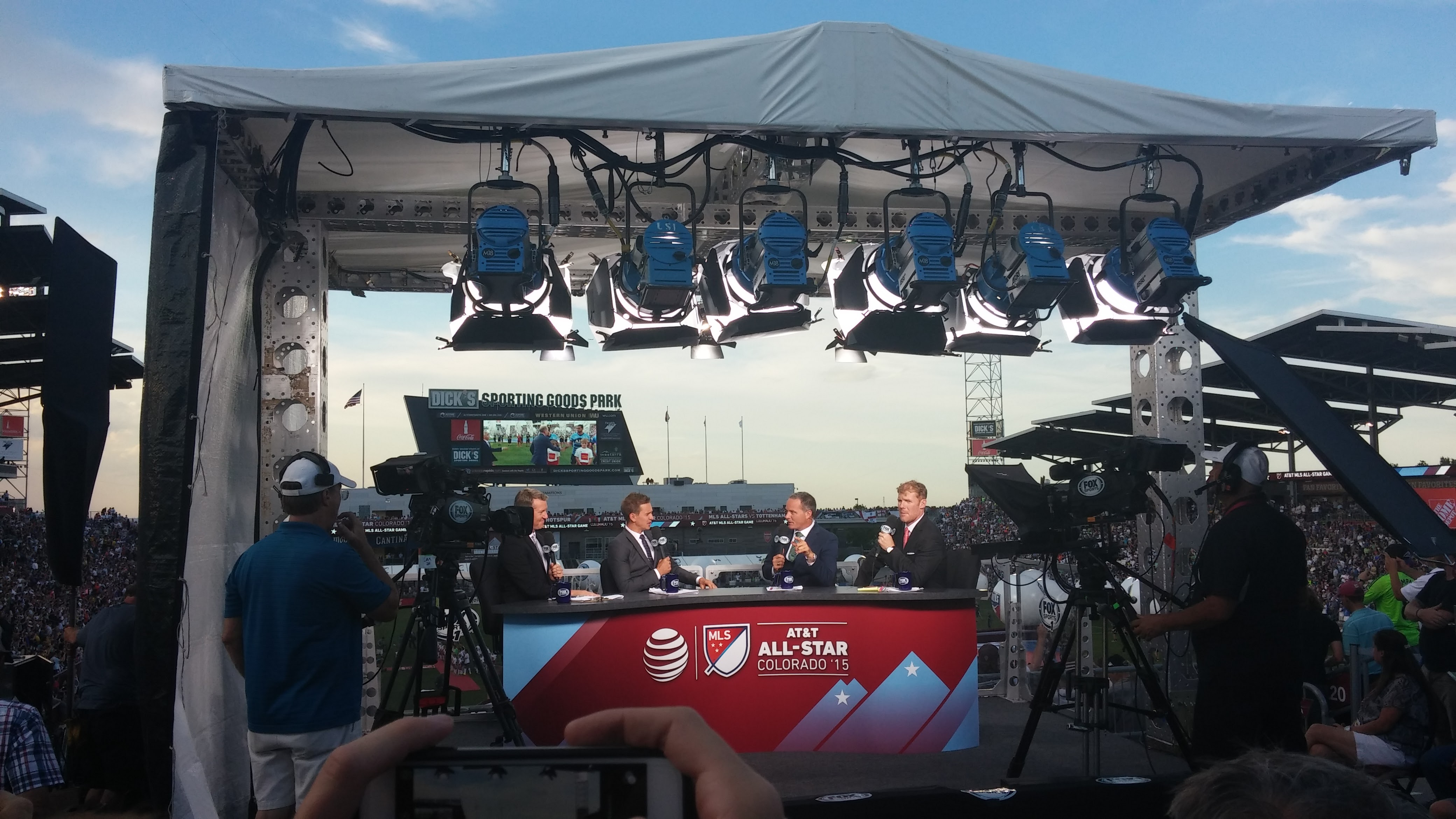 The Fox Sports crew in our house!