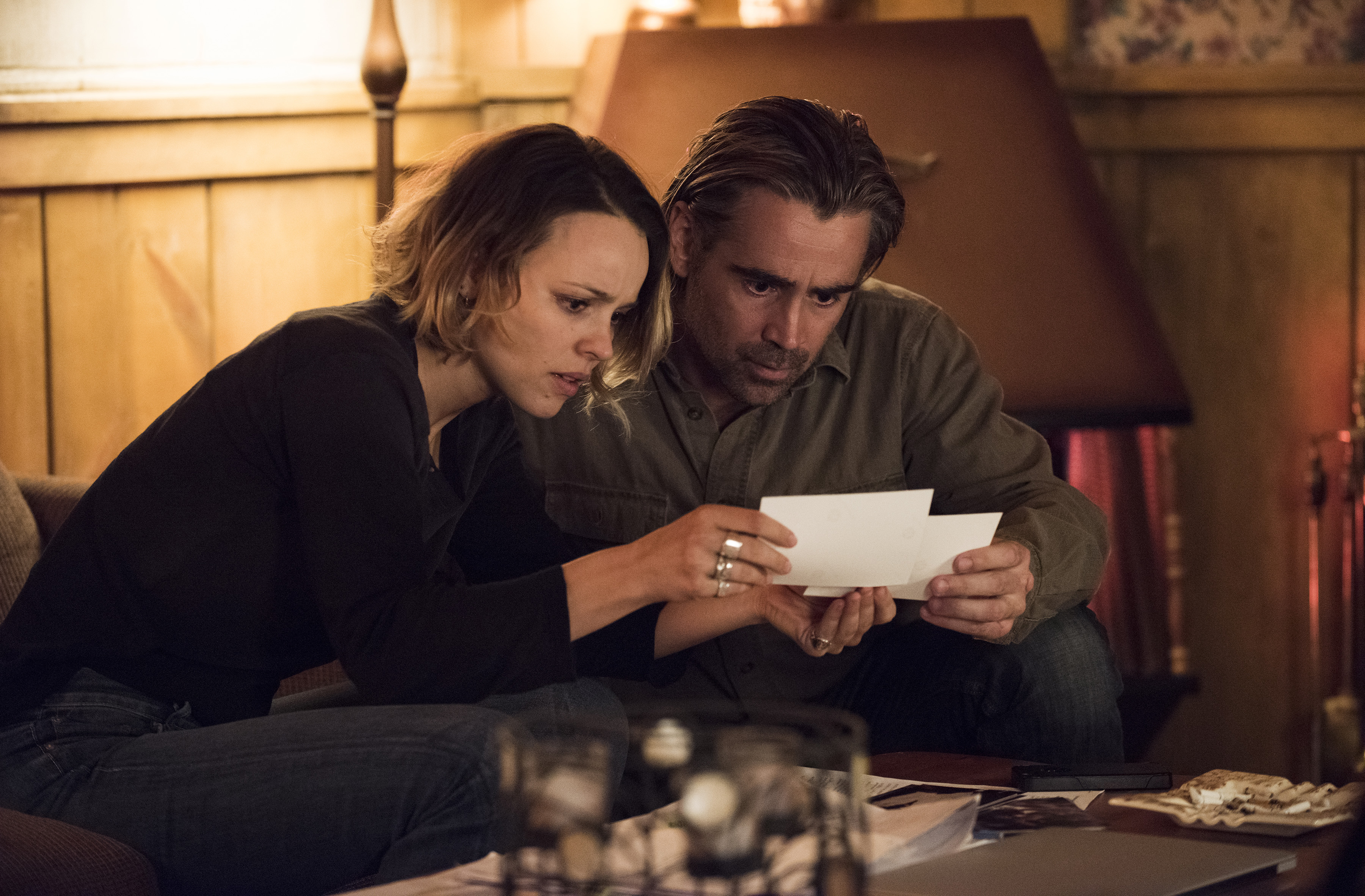 Ani (Rachel McAdams) and Ray (Colin Farrell) figure out some of what's going on. Or at least they think they do.