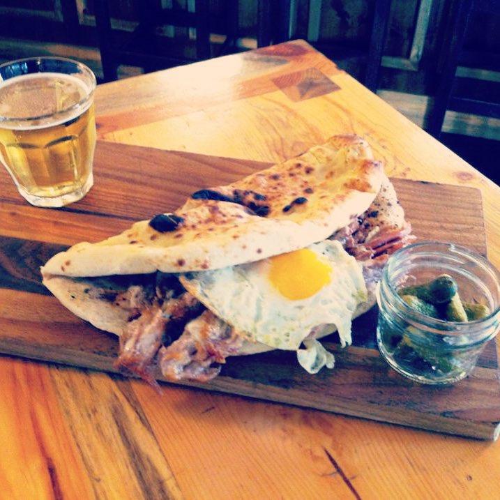 Pork sandwich at Basta