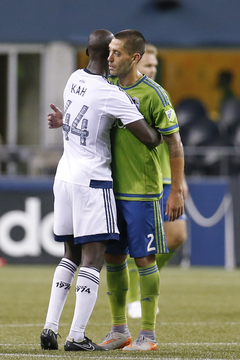 Wait, who's the striker again? Kah adds two goals in 3-0 routing of Seattle while Dempsey struggles in his return.