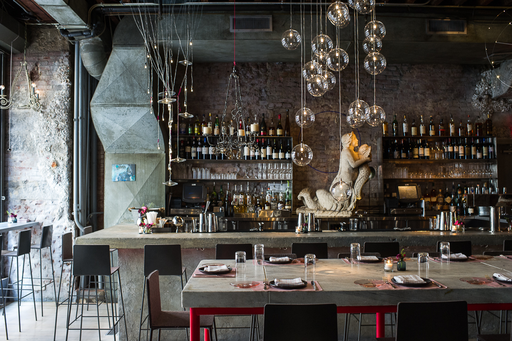 [The bar at ABC Cocina, where you could sip sangria and eat pea gucamole this evening.]