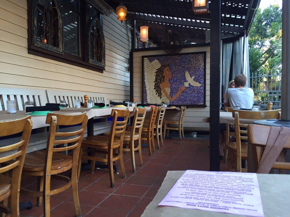 The patio at Primitivo Wine Bistro, Venice