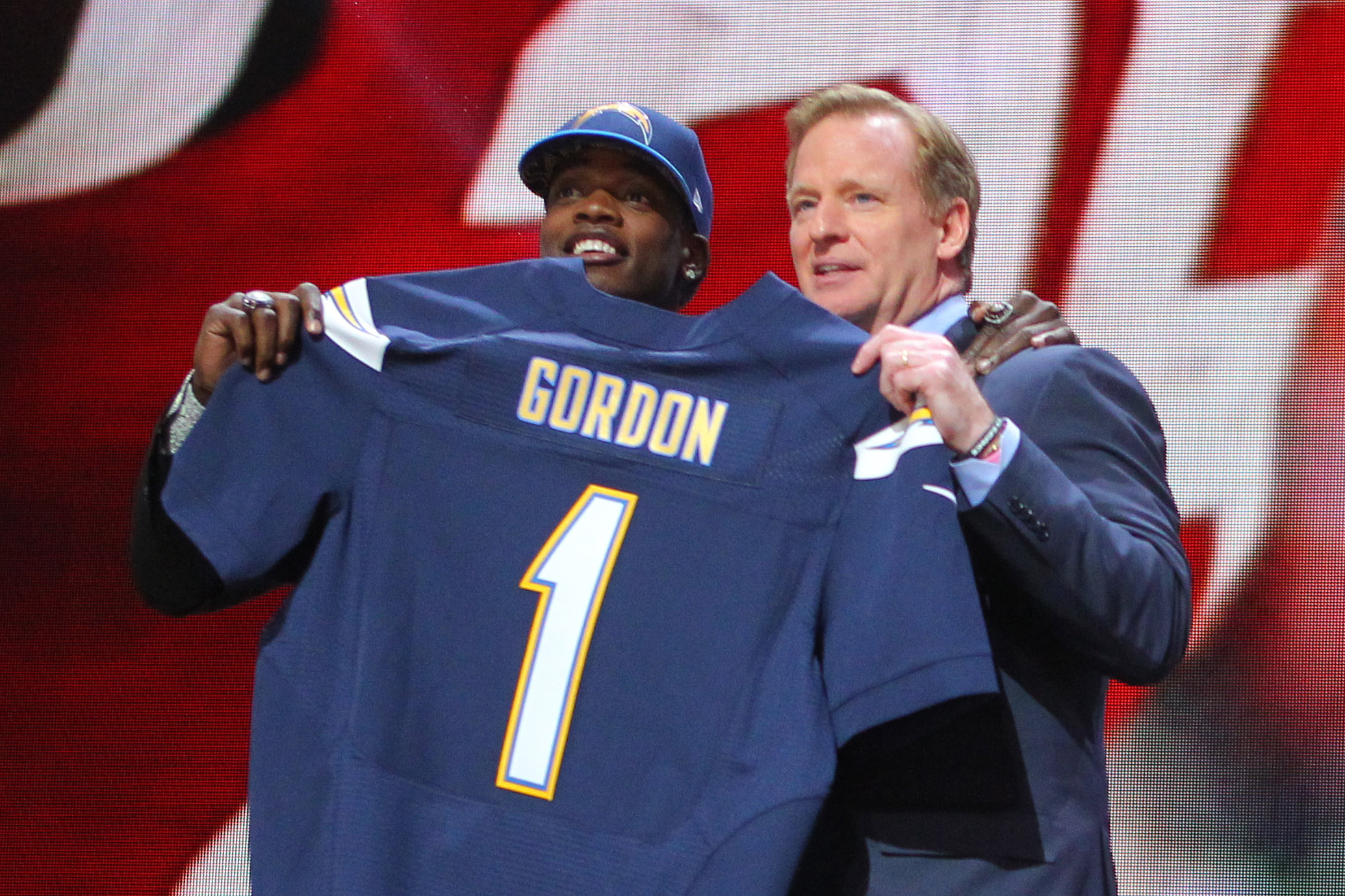 """""""With the 15th pick of the 2015 NFL Draft...the San Diego Chargers leap in front of the Houston Texans"""""""