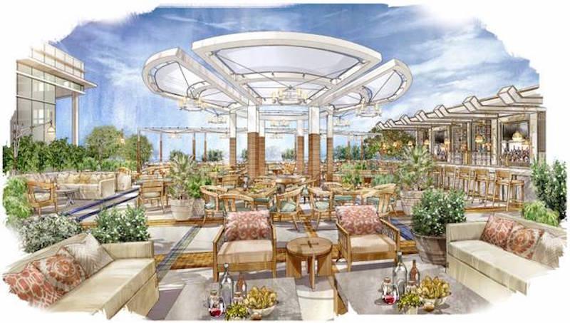 Herringbone patio rendering