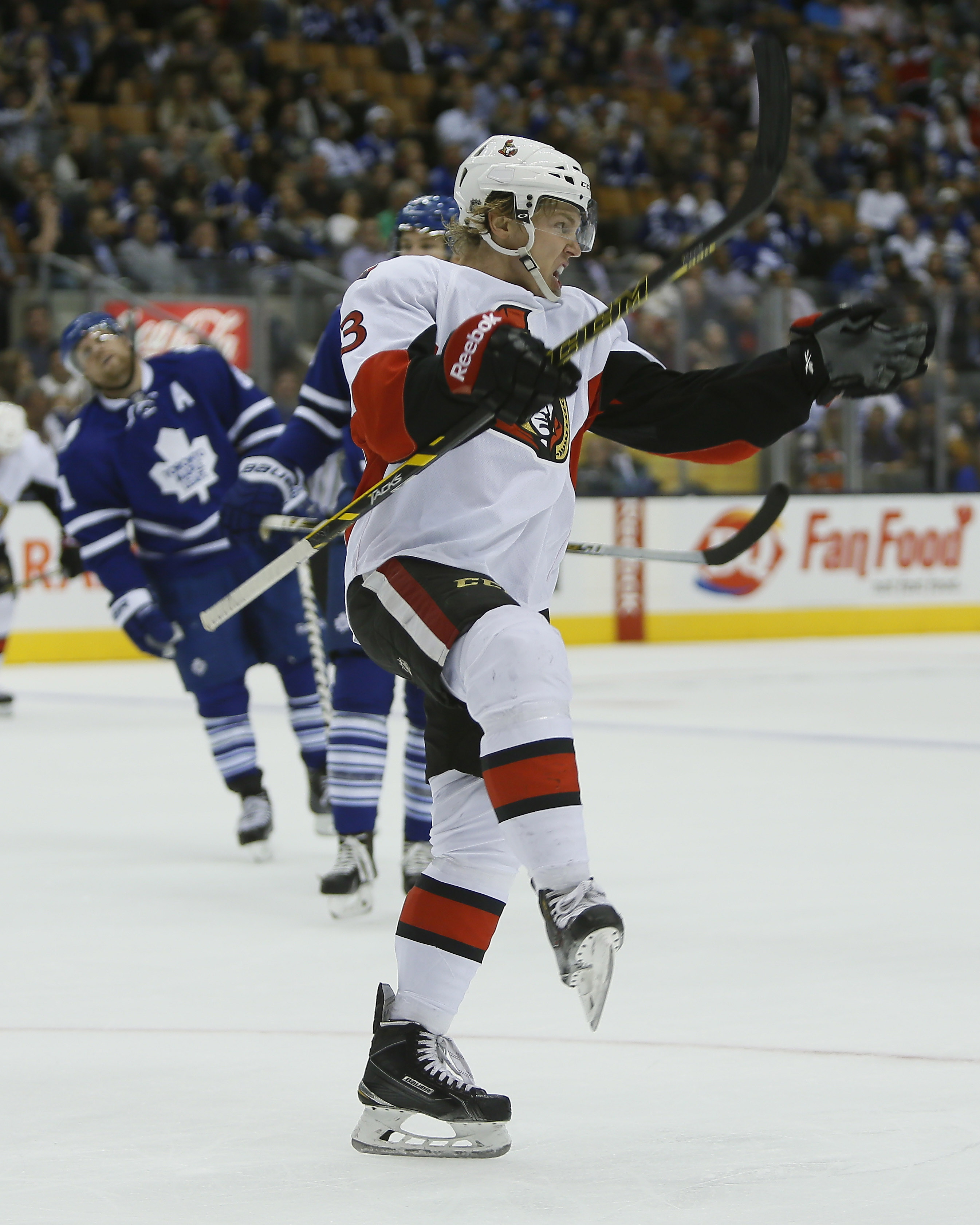 Dzingel's celly game could use a little work