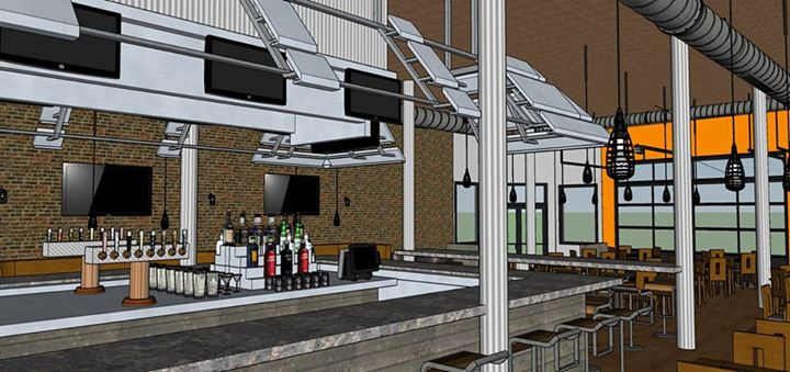 A rendering of A&B Burgers in Beverly