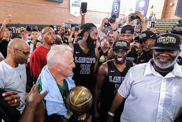 Harden with the trophy