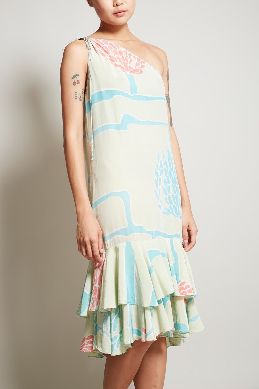 Mary McFadden one-shoulder dress, $70 (was $265)