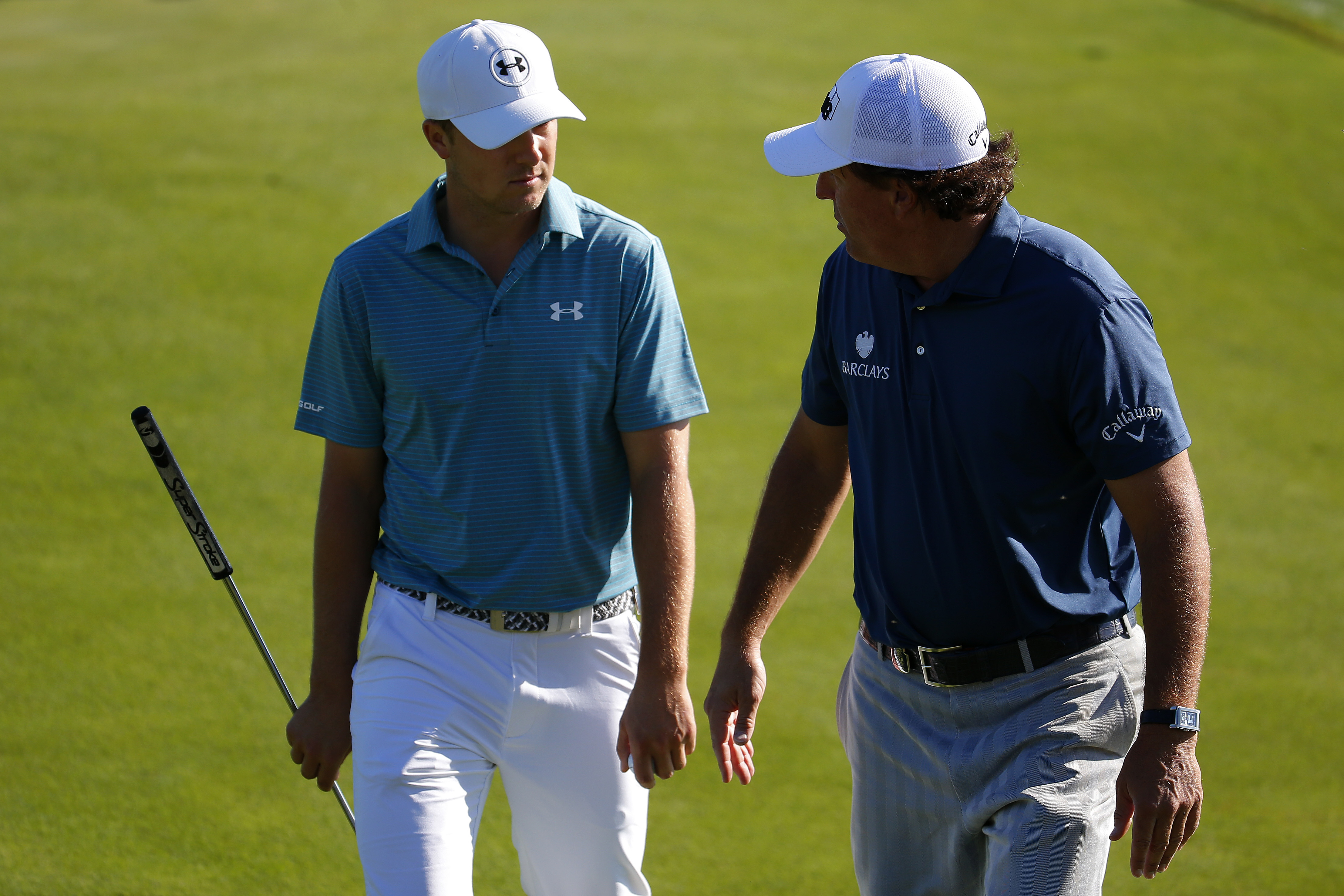 Phil Mickelson spends PGA practice round trash talking Jordan Spieth and Rory McIlroy