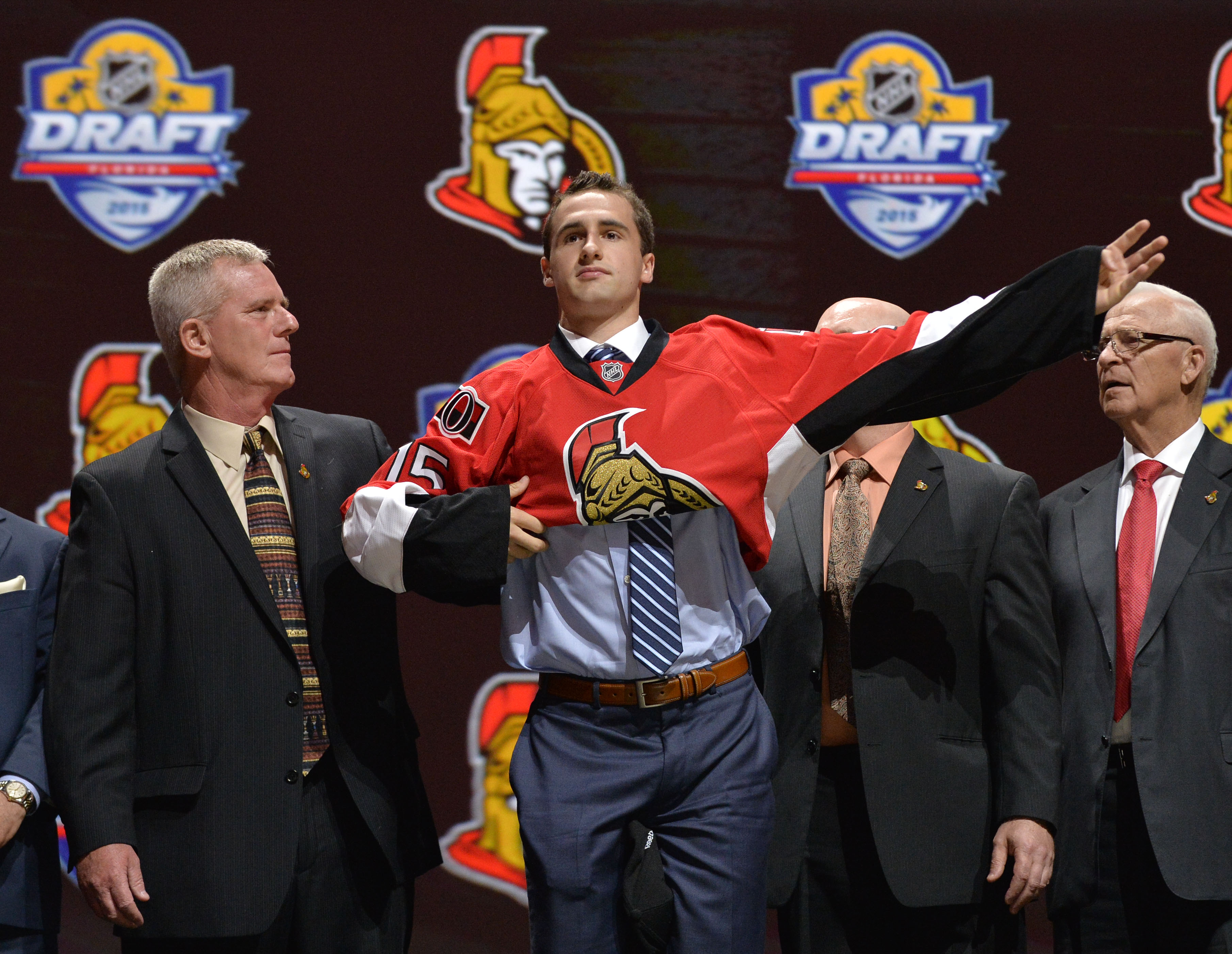 Everyone seems to be a little bit in awe of how majestically Colin White puts on a Jersey.